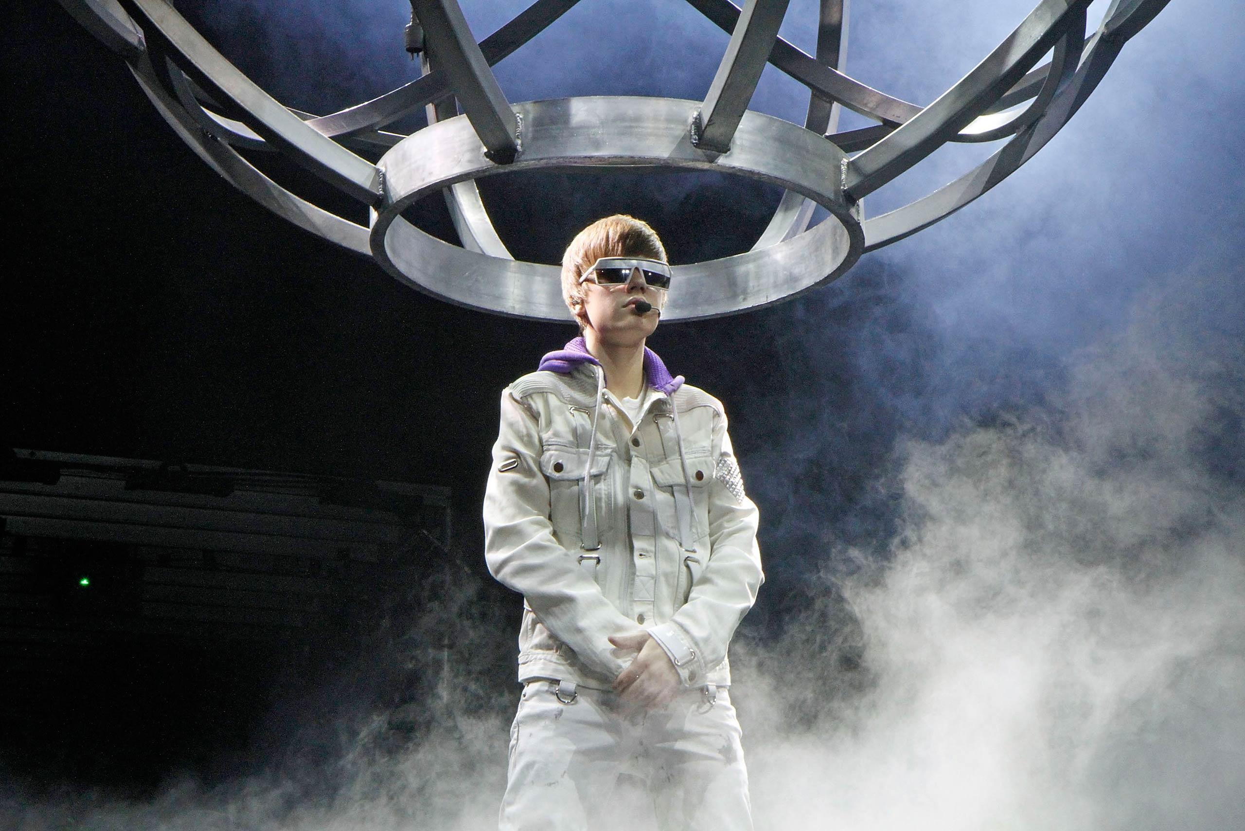 Justin Bieber performs at the Atlantic City Boardwalk Hall in Atlantic City, NJ in 2010.