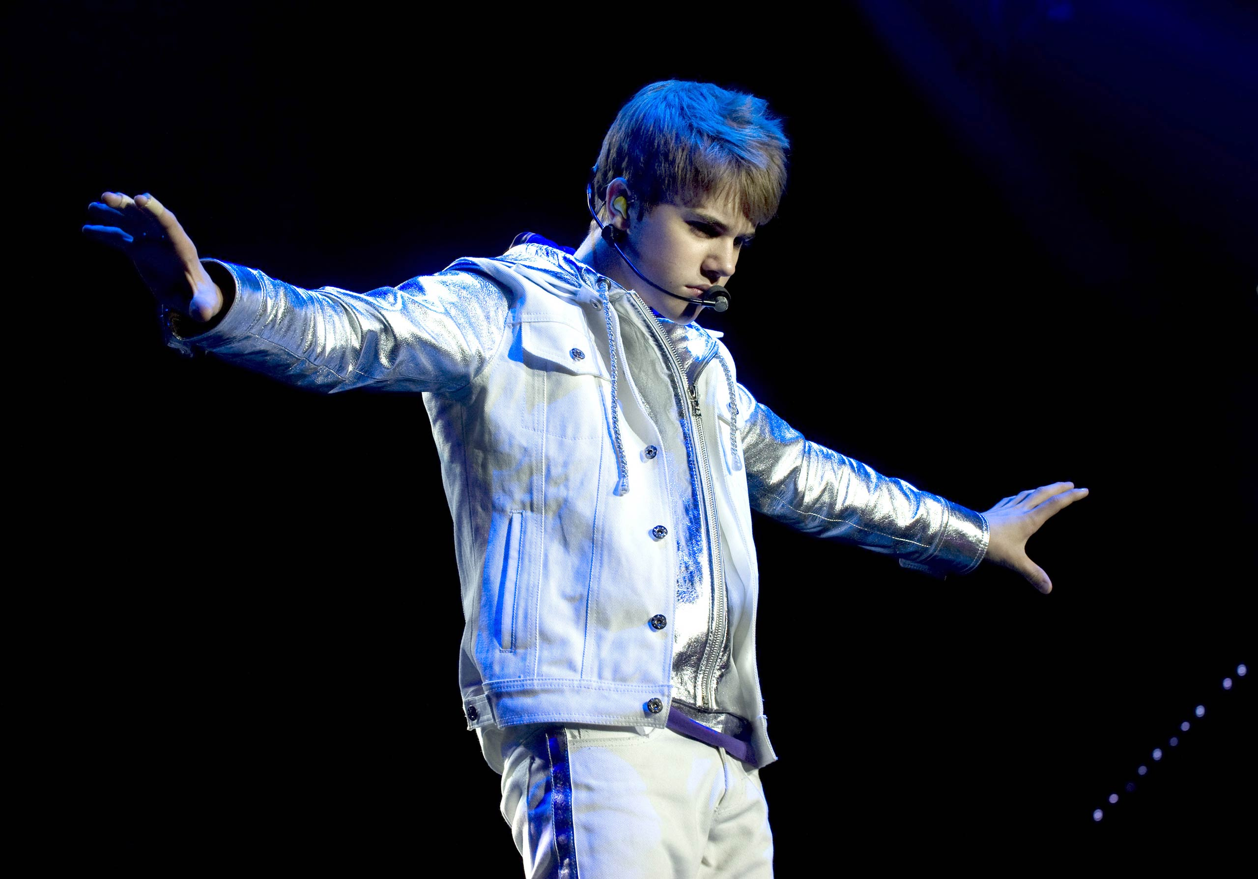 Justin Bieber performs on stage at Ahoy in Rotterdam, Netherlands in 2011.