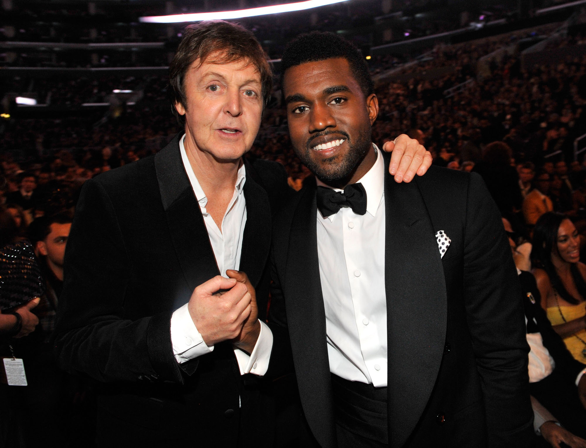 Sir Paul McCartney and Kanye West at the 51st Annual Grammy Awards at the Staples Center in Los Angeles on Feb. 8, 2009.
