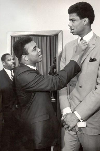 Muhammad Ali with Kareem Abdul-Jabbar