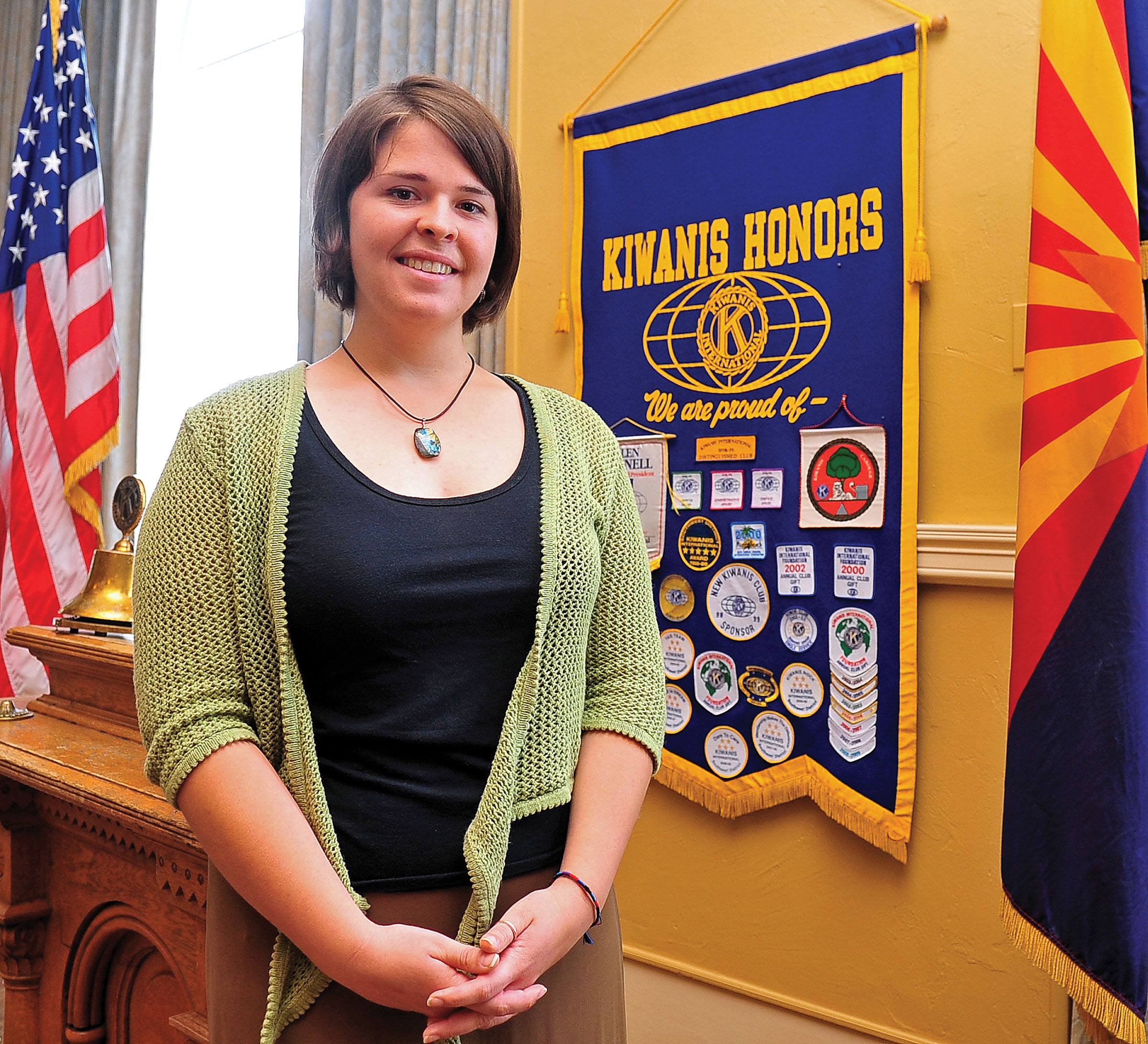 Kayla Mueller after speaking to a group in Prescott, Ariz. on May 30, 2013.