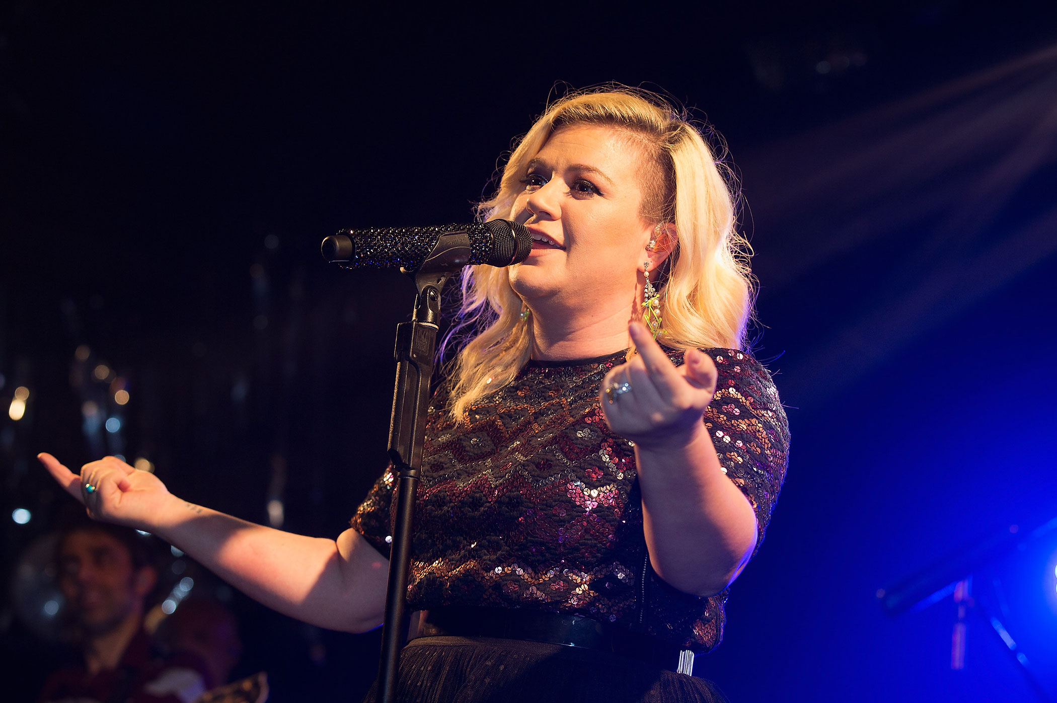 Kelly Clarkson performs on stage at G-A-Y on Feb. 14, 2015 in London, England.