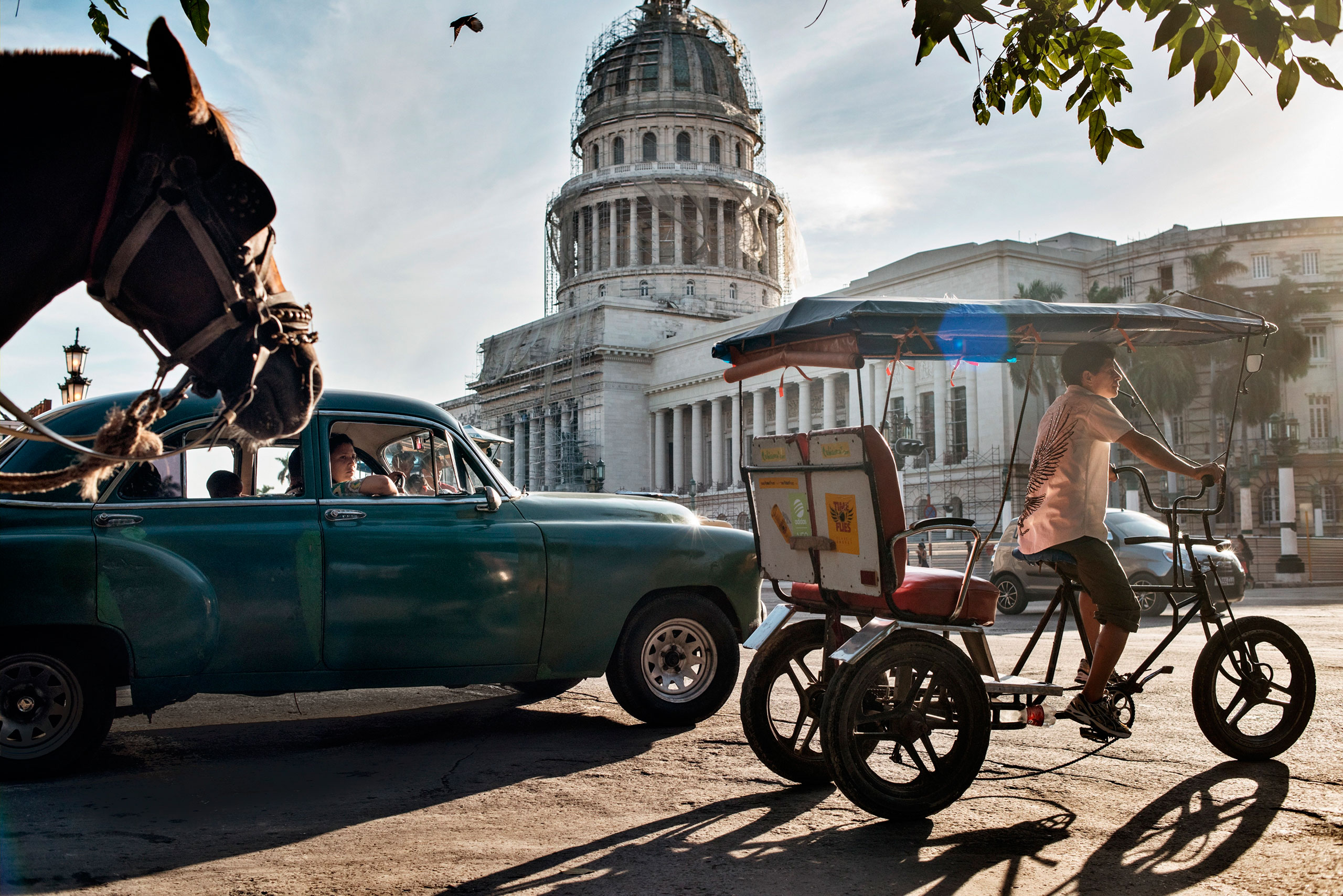 The National Cuban Capitol Building in Havana is seen during restoration work.From  Take a Walk Through the Streets of Cuba