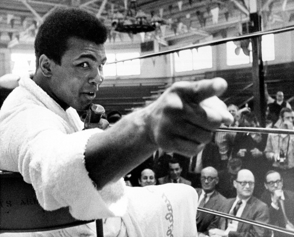 """Ali in Atlanta, 1970                                                              Larry Bird: """"To say you are 'The Greatest' and then back it up is not only a sign of self-confidence but of having the talent and will to do it. Ali became a champion in his sport, a worldwide-recognized figure who, when you thought of boxing, and maybe still do so today, you think of Muhammad Ali.                                                              On a side note, Ali visited our locker room a few years ago after a game. A loud, boisterous room became extremely silent in reverence. Then our players, one by one and like little kids, all went to shake his hand and get a picture. I've been with the Pacers 18 years and never seen one man take over a room without saying a word. Larry Bird is a retired NBA player for the Boston Celtics and former head coach of the Indiana Pacers."""