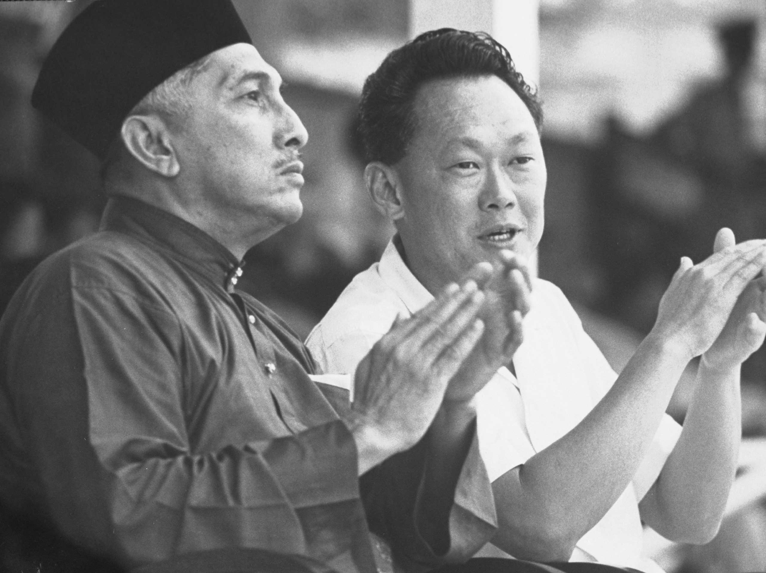 Prime Minister Lee Kuan Yew during May Day celebration in 1965.