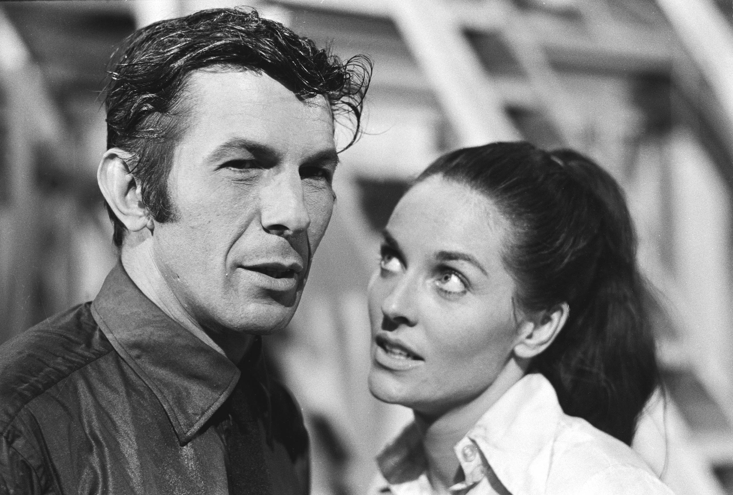 Leonard Nimoy as Paris and Lee Meriwether as Tracey in <i>Mission Impossible</i> in 1969.