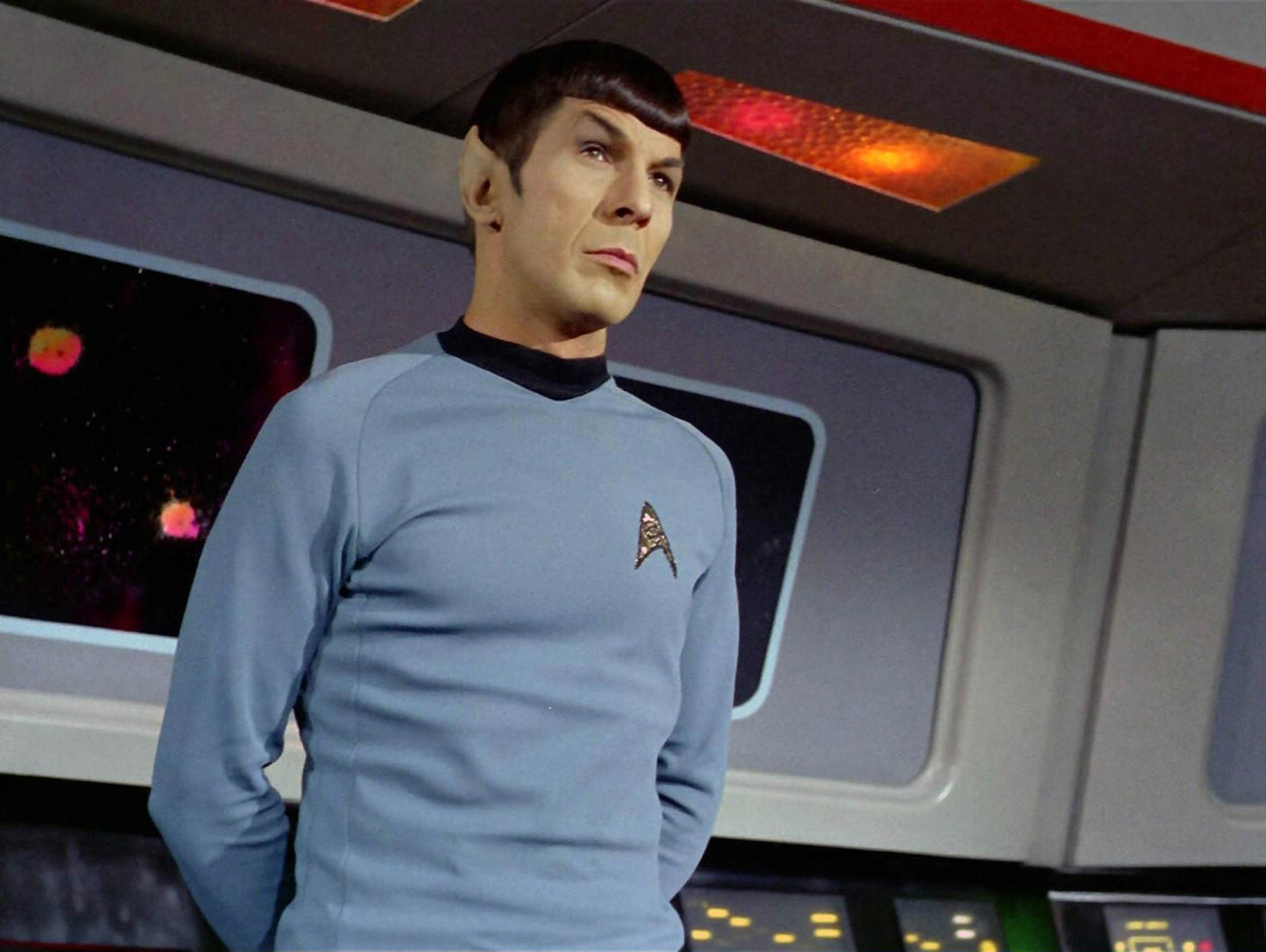 Leonard Nimoy as Mr. Spock in Star Trek in 1968.