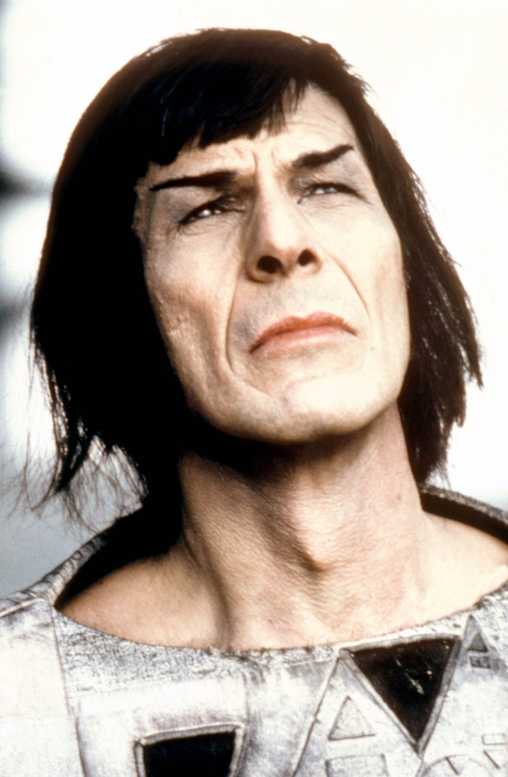 Leonard Nimoy as Mr. Spock in <i>Star Trek III: The Search for Spock</i> in 1984.