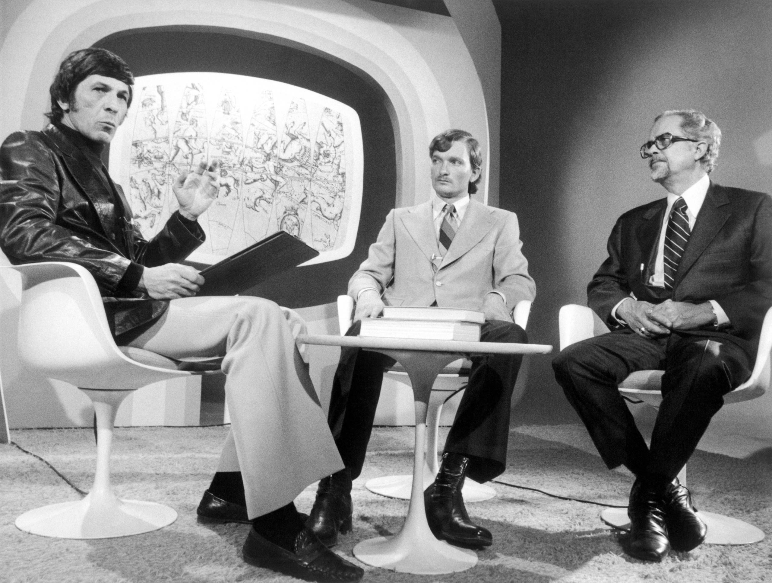 Leonard Nimoy hosts <i>The Unexplained</i> in 1976.