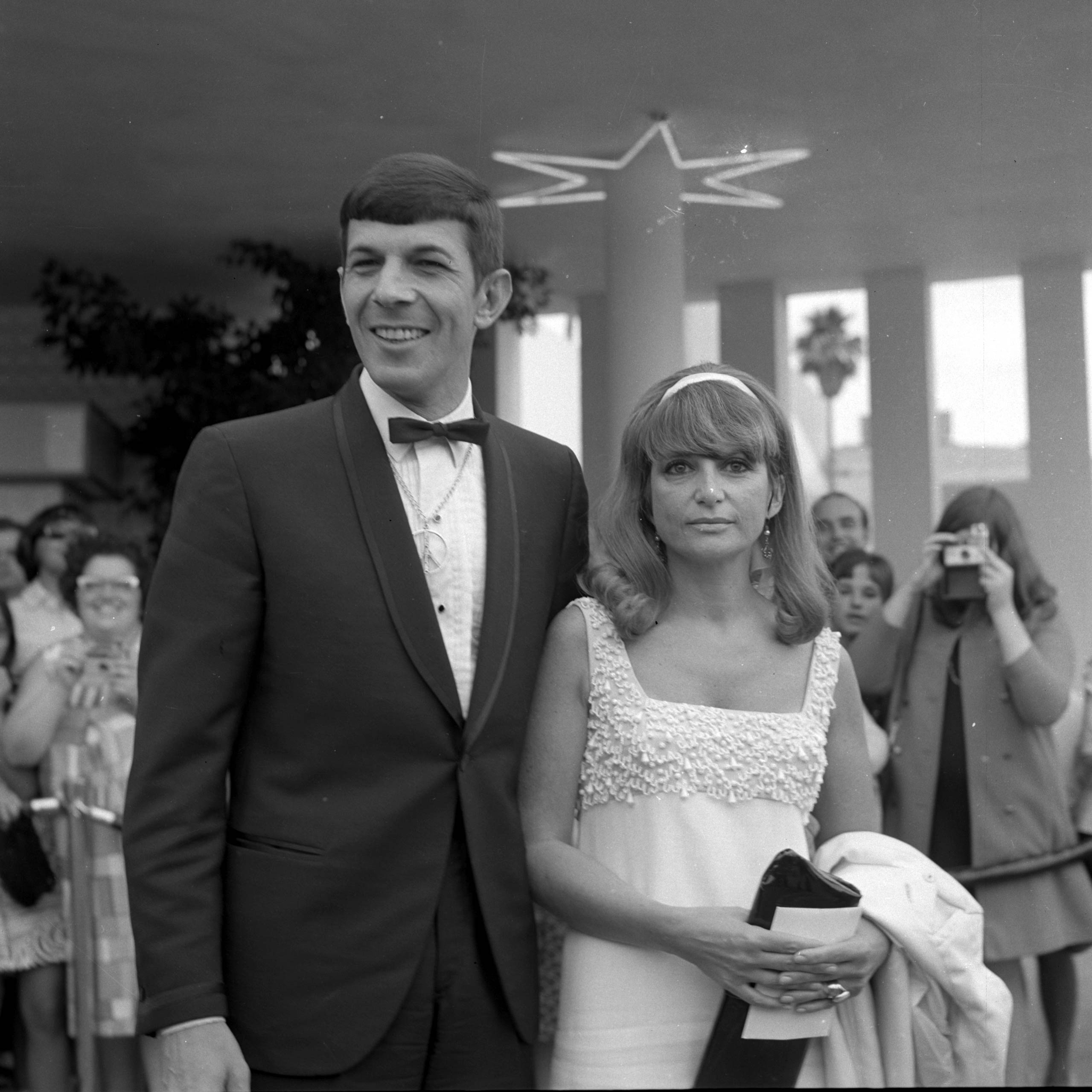 Leonard Nimoy with wife Sandra Zober attend an event in Los Angeles,Calif. in 1966.