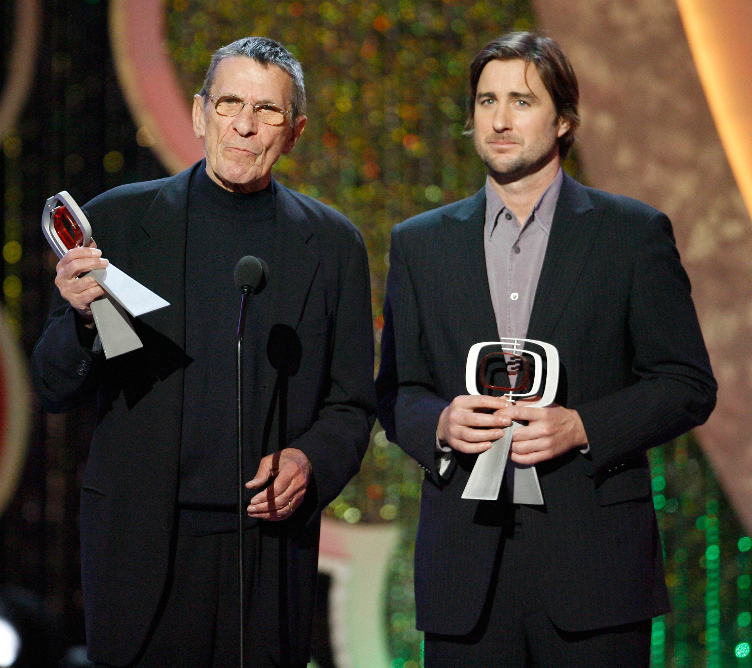Leonard Nimoy and Luke Wilson, presenters during 5th Annual TV Land Awards - Show at Barker Hangar in Santa Monica, Calif. in 2007.