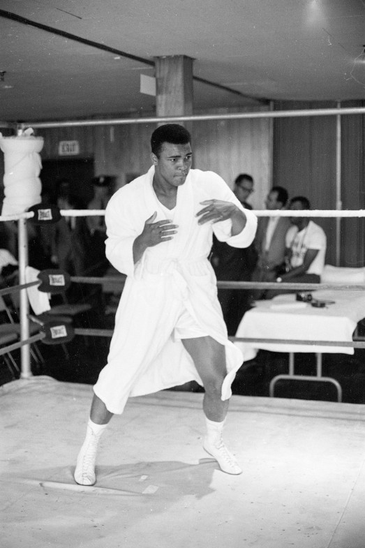 """Ali before a fight in Chicopee, Mass., 1965                               Chuck """"the Iceman"""" Liddell: """"I never make a big effort to meet celebrities, but I was at a charity event, and Ali was there, so I made sure I introduced myself. It was just for a second. I don't know if he really knew me, but he said my name. It was such an honor. As a fighter, he was just the complete package — as a ring strategist, his timing, footwork, speed and how he played the mental game and promoted his fights. I would have loved to have seen him fight in person. He was just the best. And to think he gave it up for something he believed in? That says everything about Ali, the man. I'd like to say I would do the same thing, but I don't know if I would. All of us who fight for a living are brothers. It's too bad about the Parkinson's. We don't know if boxing caused it. But if he would have known that boxing would cause Parkinson's, he probably would have done it all again. It was in his blood to be great. As fighters, we make sacrifices to be the best, and he was the best.""""                                Chuck """"the Iceman"""" Liddell is a former Ultimate Fighting Championship light-heavyweight title holder."""
