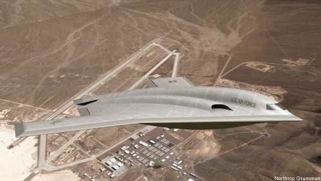 An artist's conception of what the Air Force's new Long Range Strike Bomber might look like.