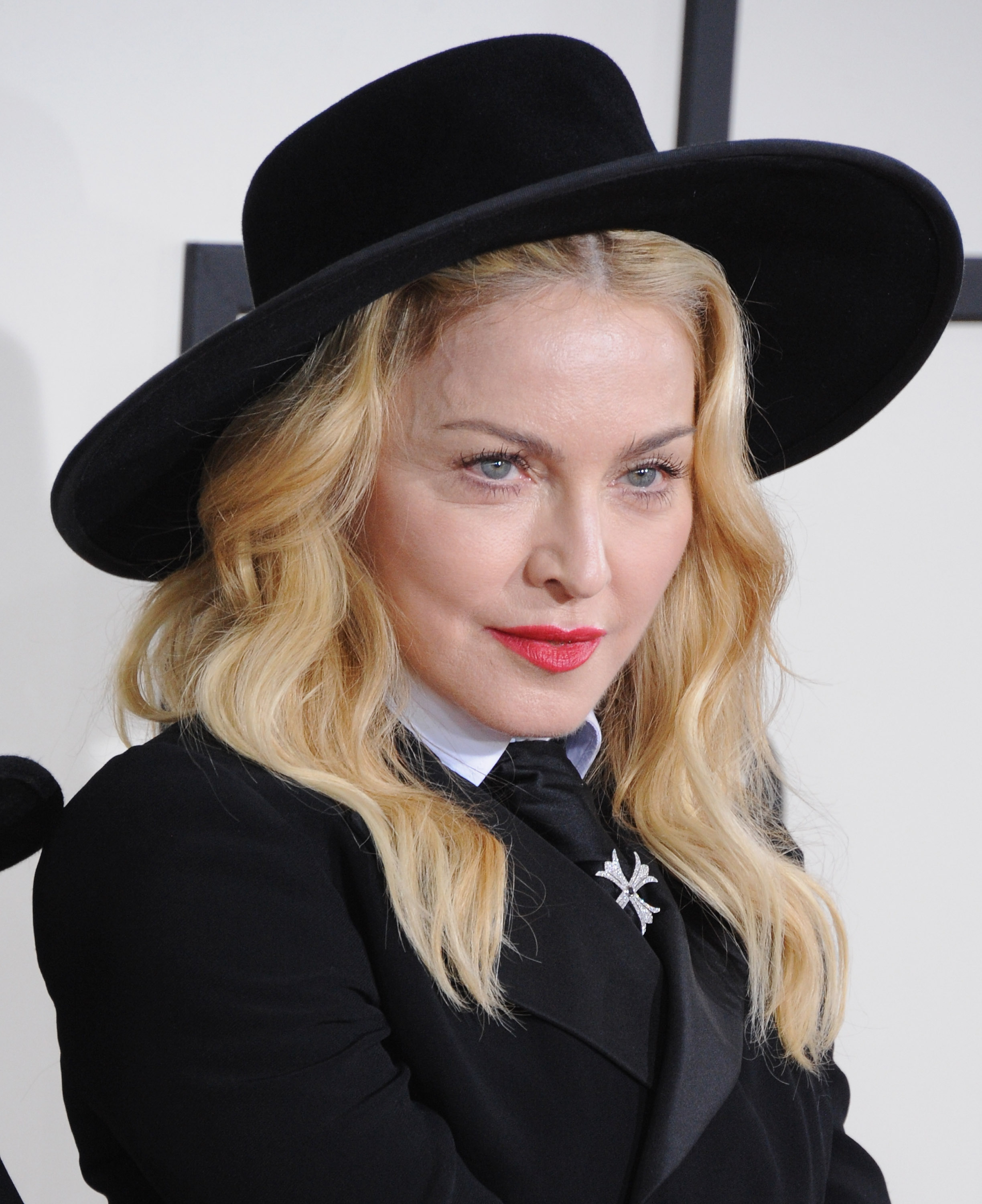 Singer Madonna arrives at the 56th GRAMMY Awards at Staples Center on January 26, 2014 in Los Angeles.