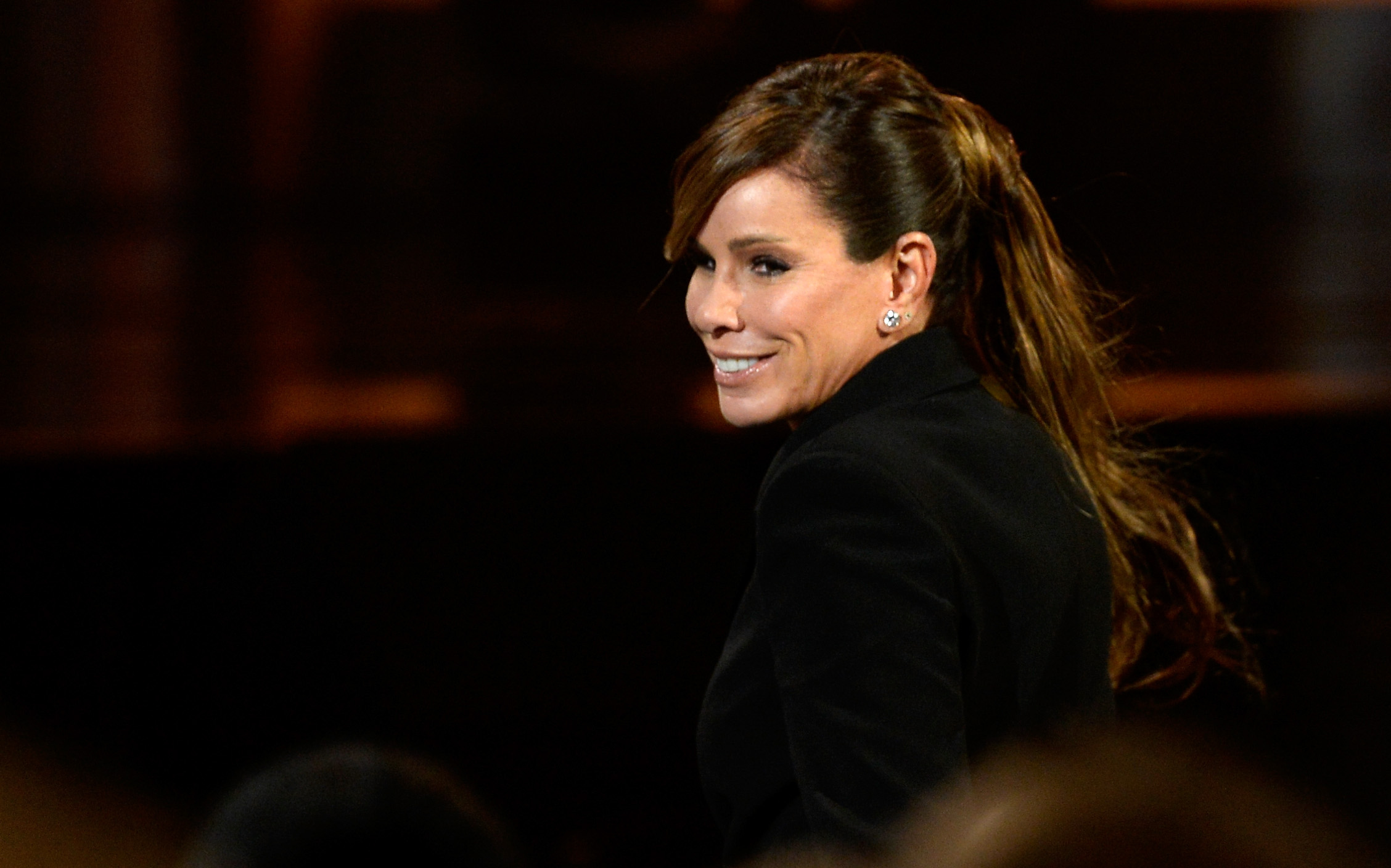 TV personality Melissa Rivers attends the The 57th Annual GRAMMY Awards Premiere Ceremony at Nokia Theatre L.A. Live on Feb. 8, 2015 in Los Angeles.