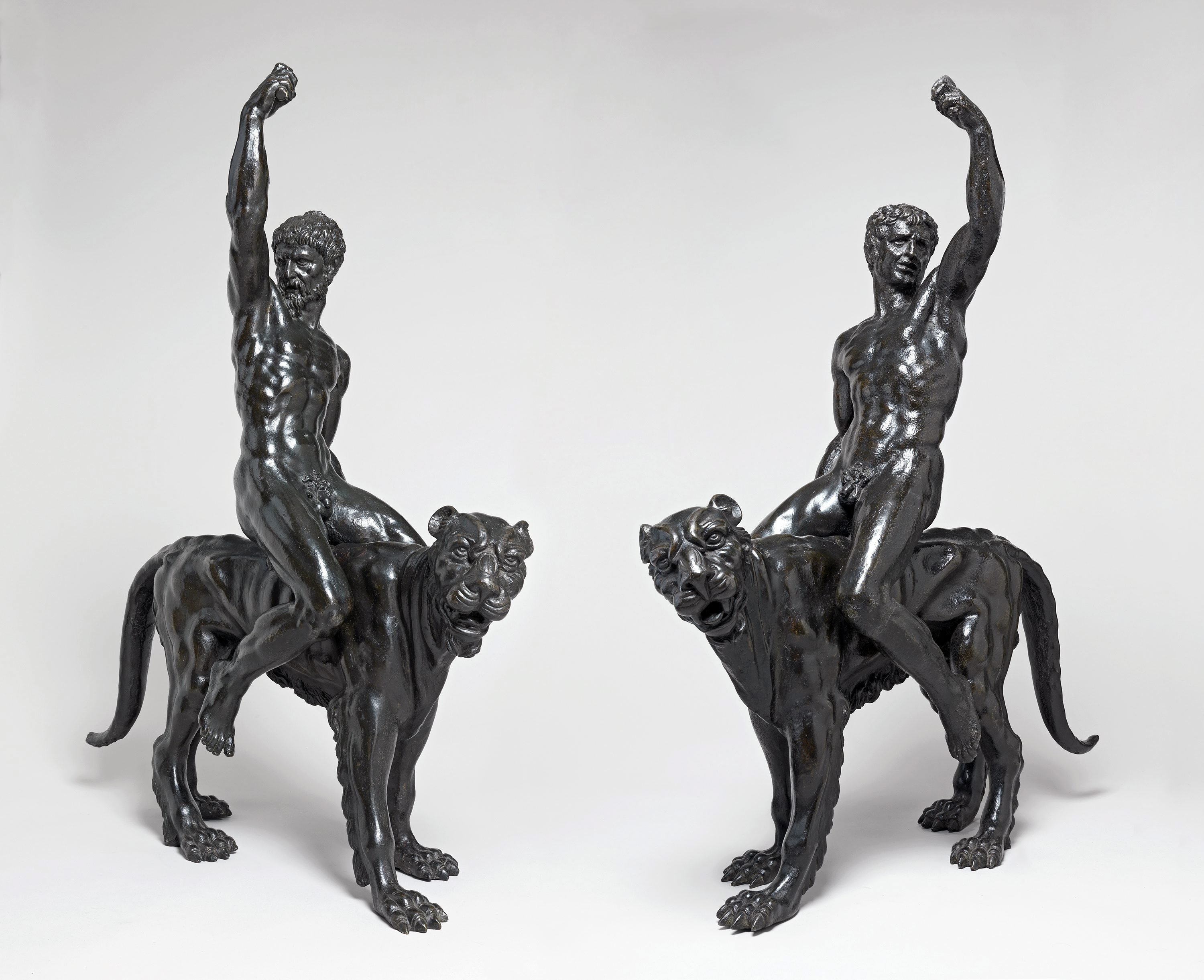Two bronzes allegedly created by Italian sculptor Michelangelo provided by the Fitzmuseum and University of Cambridge on Feb. 2, 2015.