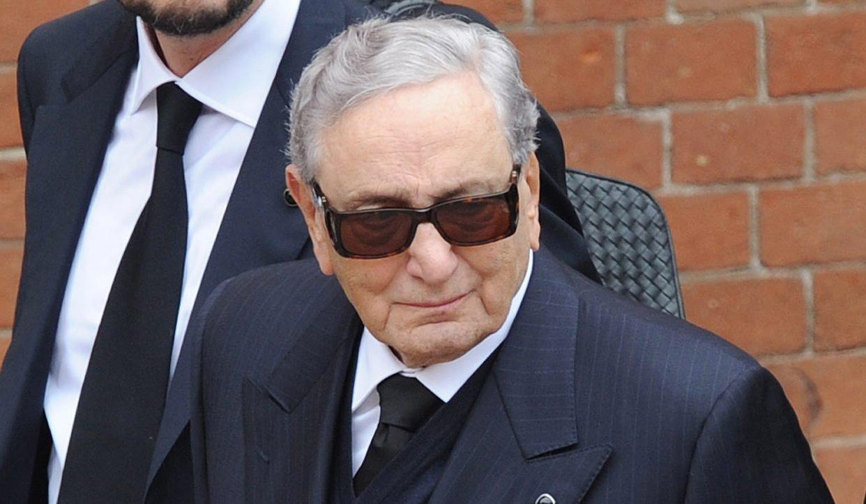 Michele Ferrero attends the funeral of the heir to the Italian chocolate company Ferrero, Pietro Ferrero, in Alba, Italy on April 27, 2011.