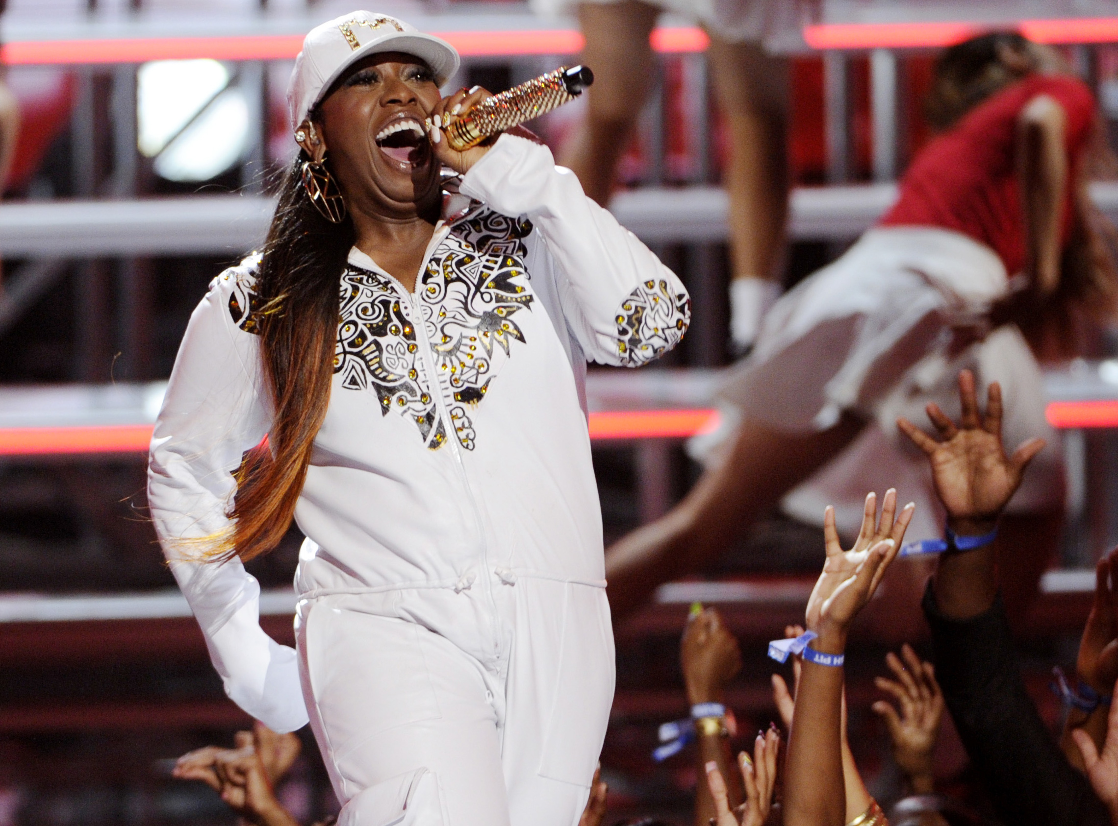 Missy Elliott performing at the BET Awards in 2014.