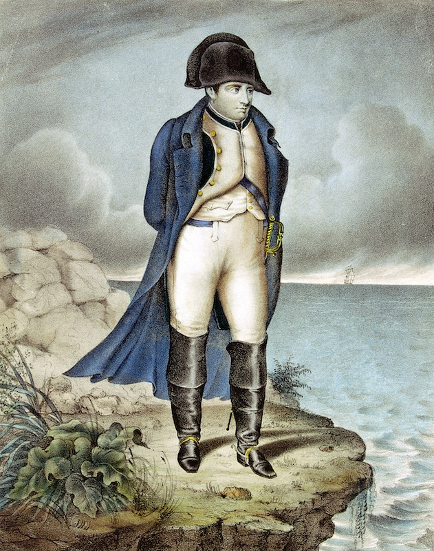 An illustration of Napoleon I, Emperor of France, in exile.