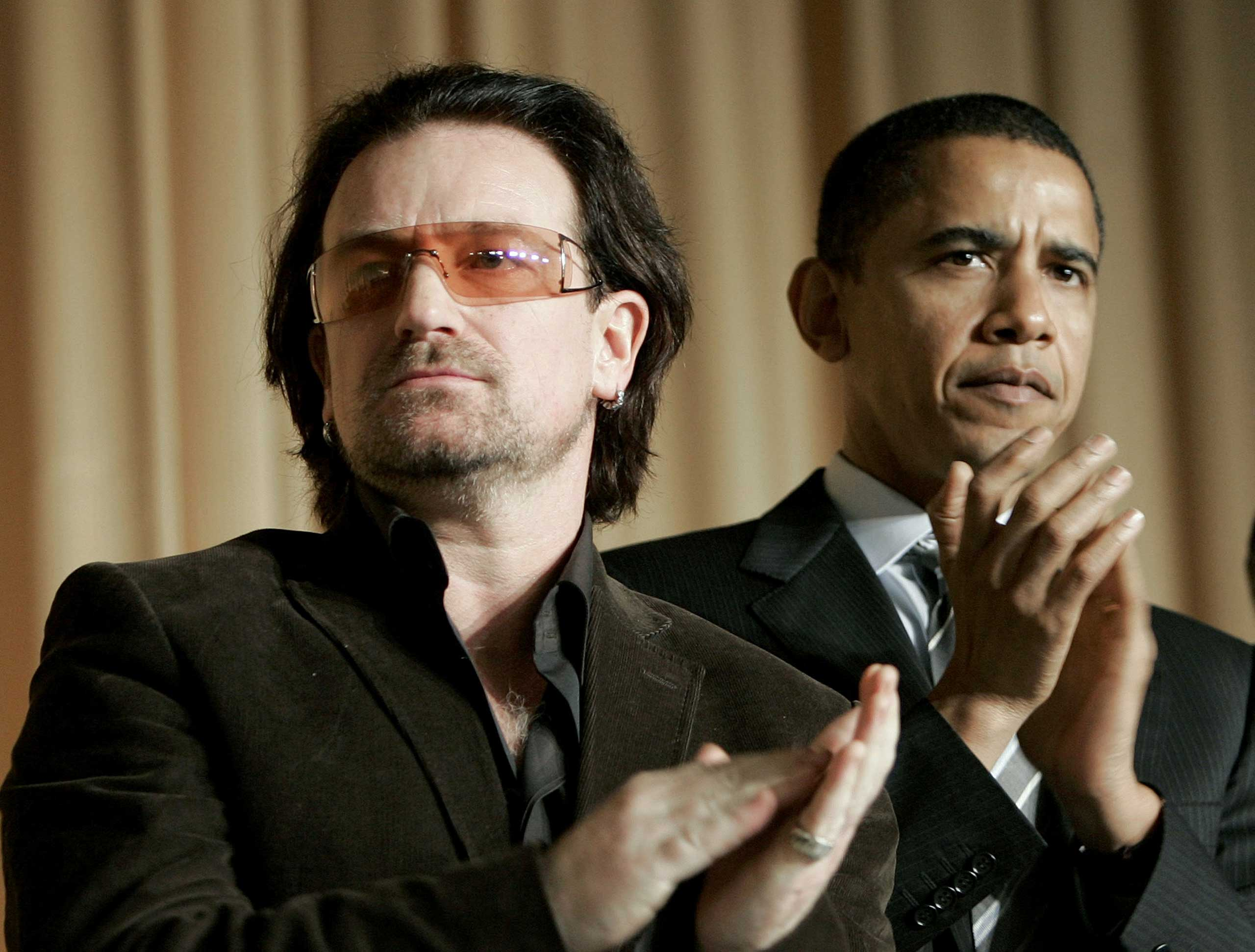 Bono was also seen with then-Sen. Barack Obama at the 2006 National Prayer Breakfast.