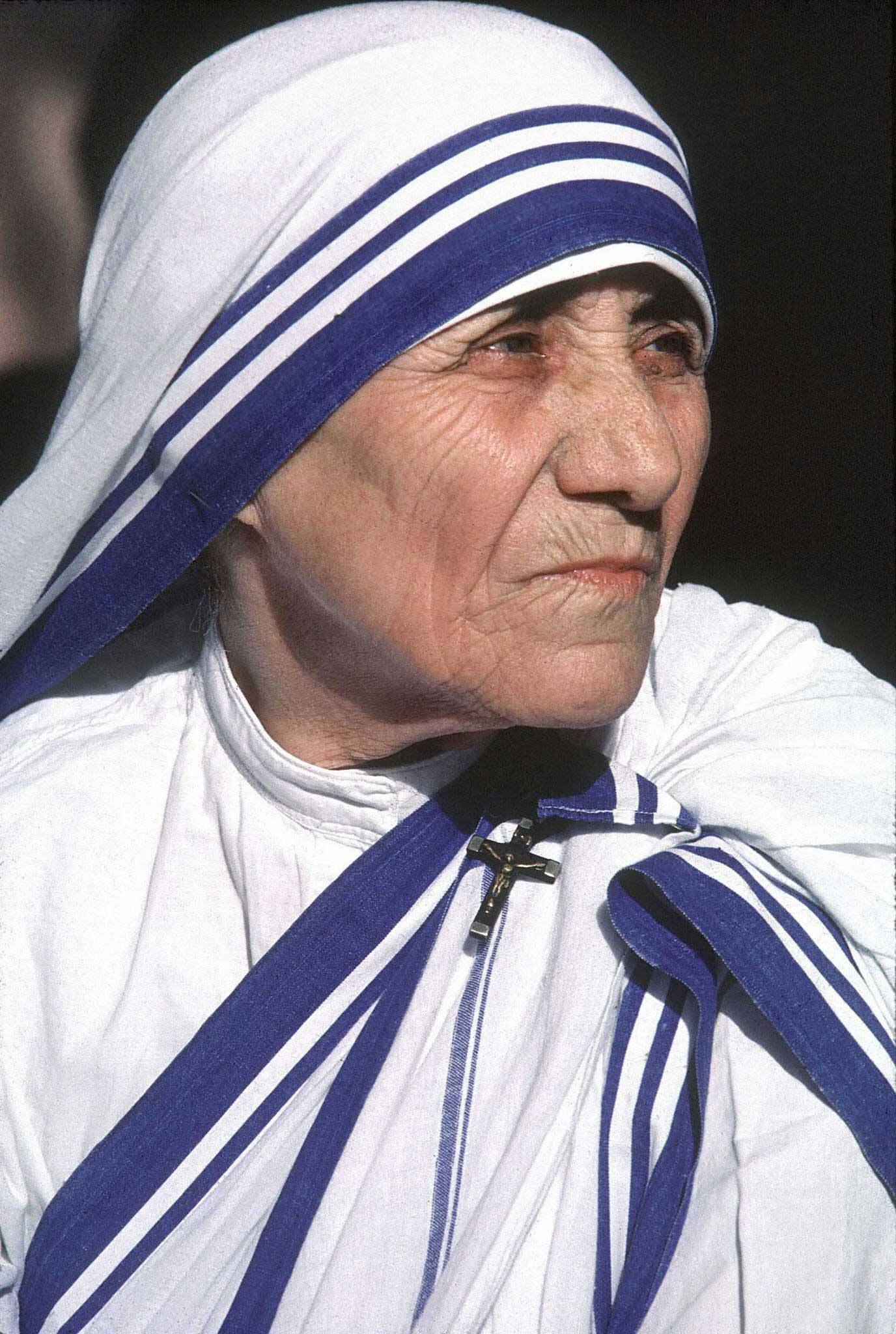 Nobel Peace Prize winner Mother Teresa, a Catholic missionary who ran charities in India, spoke in 1994.