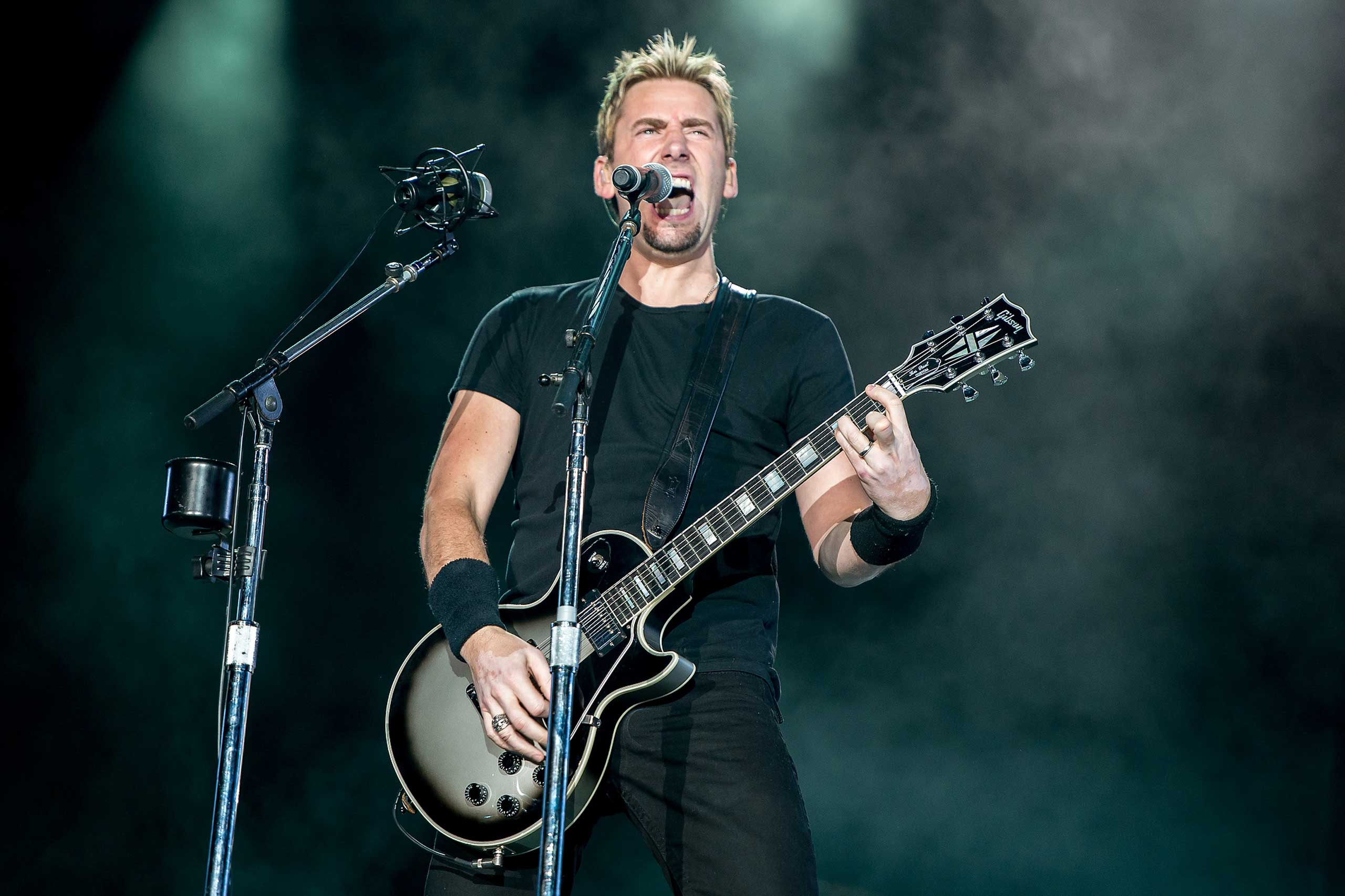Chad Kroeger of Nickelback performs on stage during a concert in the Rock in Rio Festival in Rio de Janeiro in 2013.