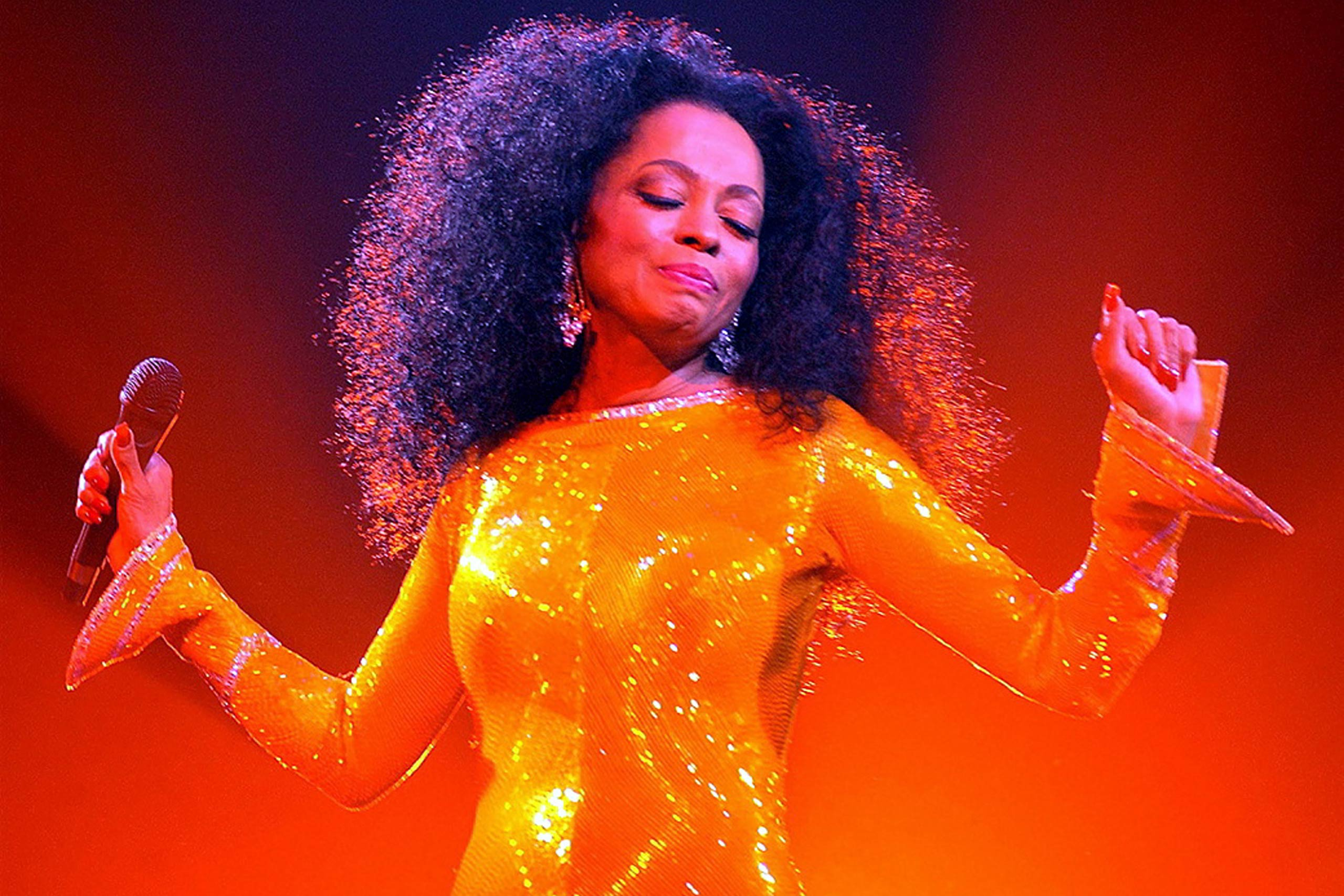 Diana Ross performs in Dublin.