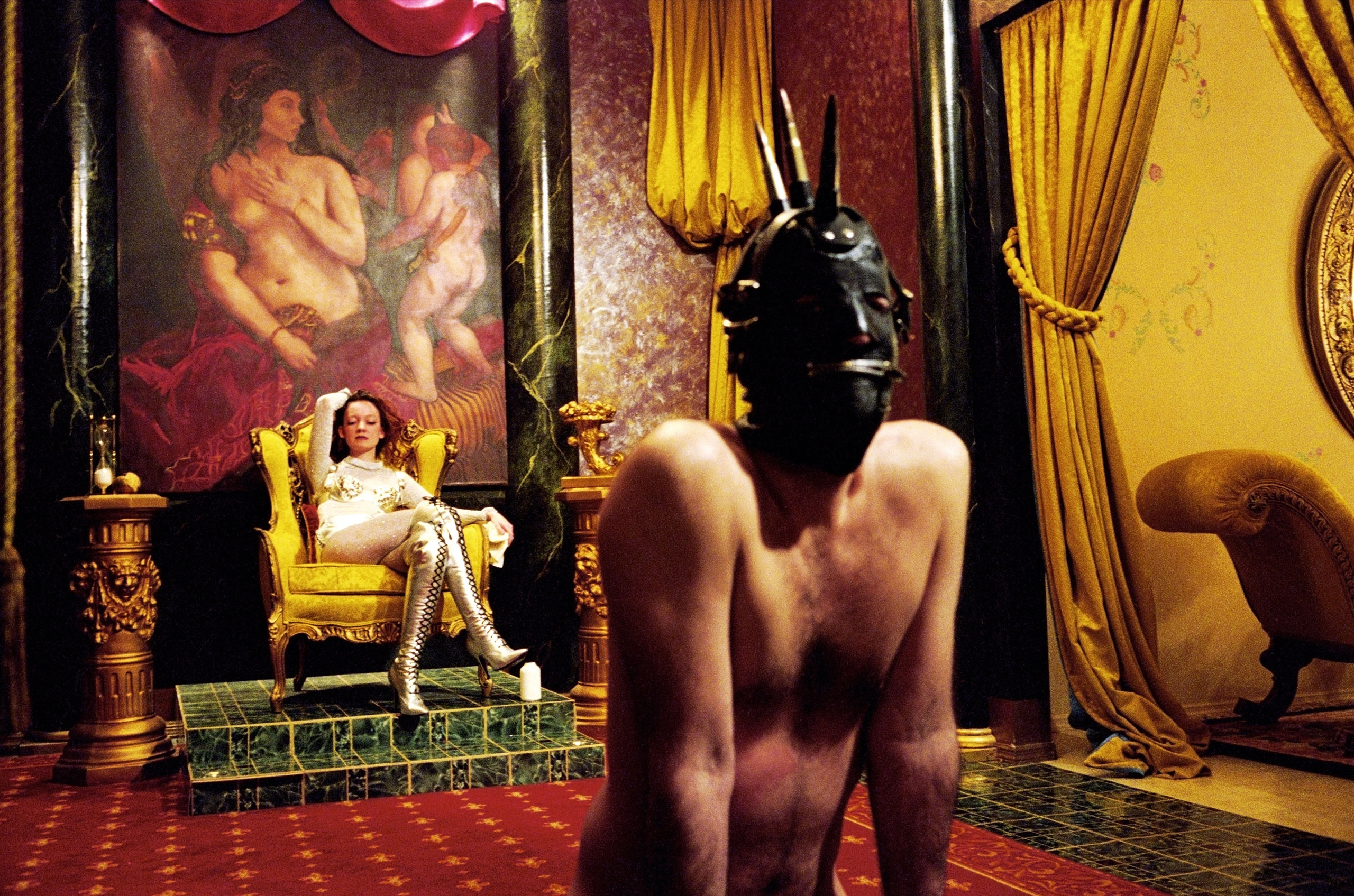 USA. New York City. 1995. Pandora's Box, Mistress Catherine after the Whipping I, The Versailles Room.