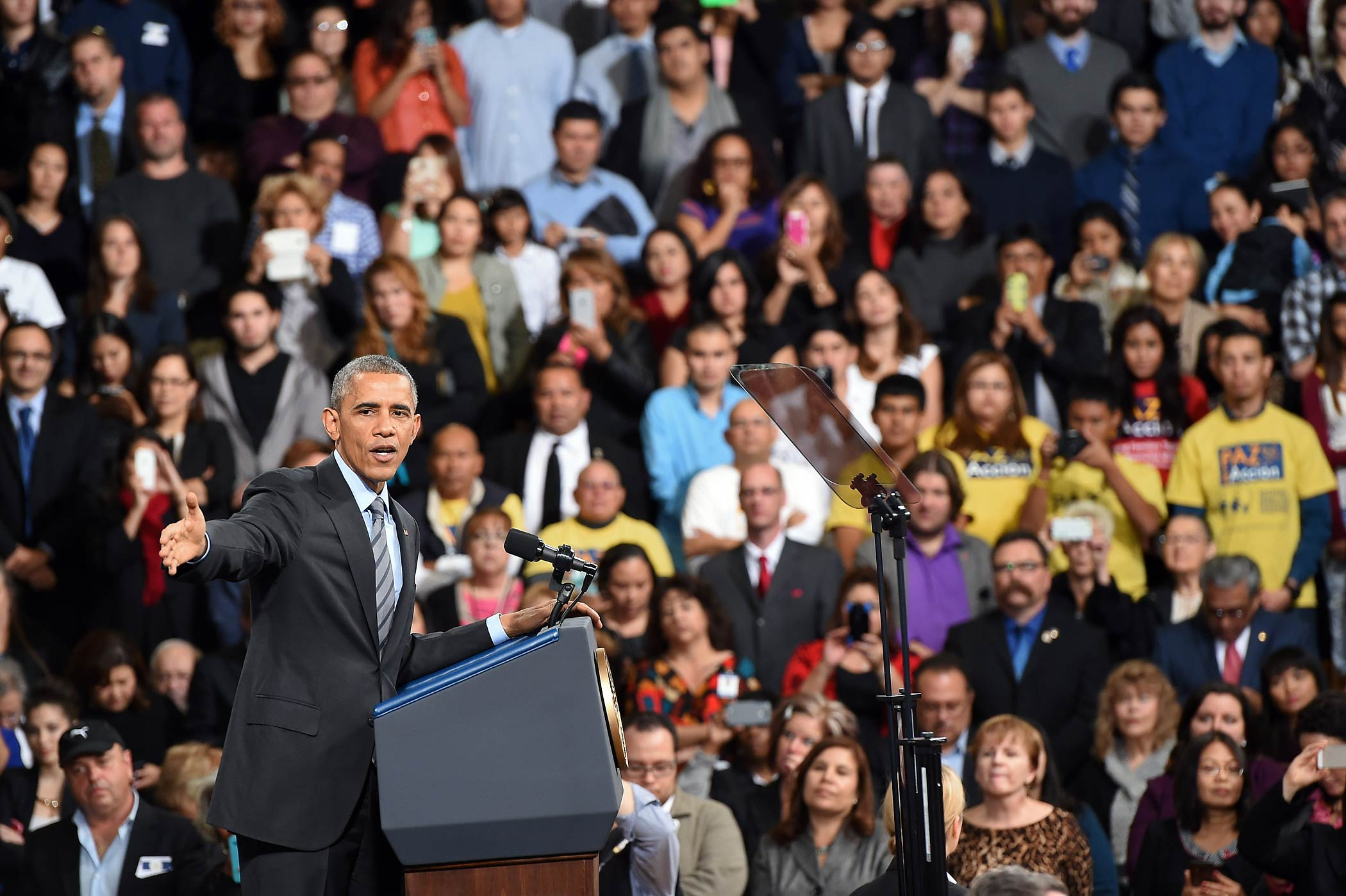 President Barack Obama speaks about his executive action on U.S. immigration policy at Del Sol High School on Nov. 21, 2014 in Las Vegas, Nev.