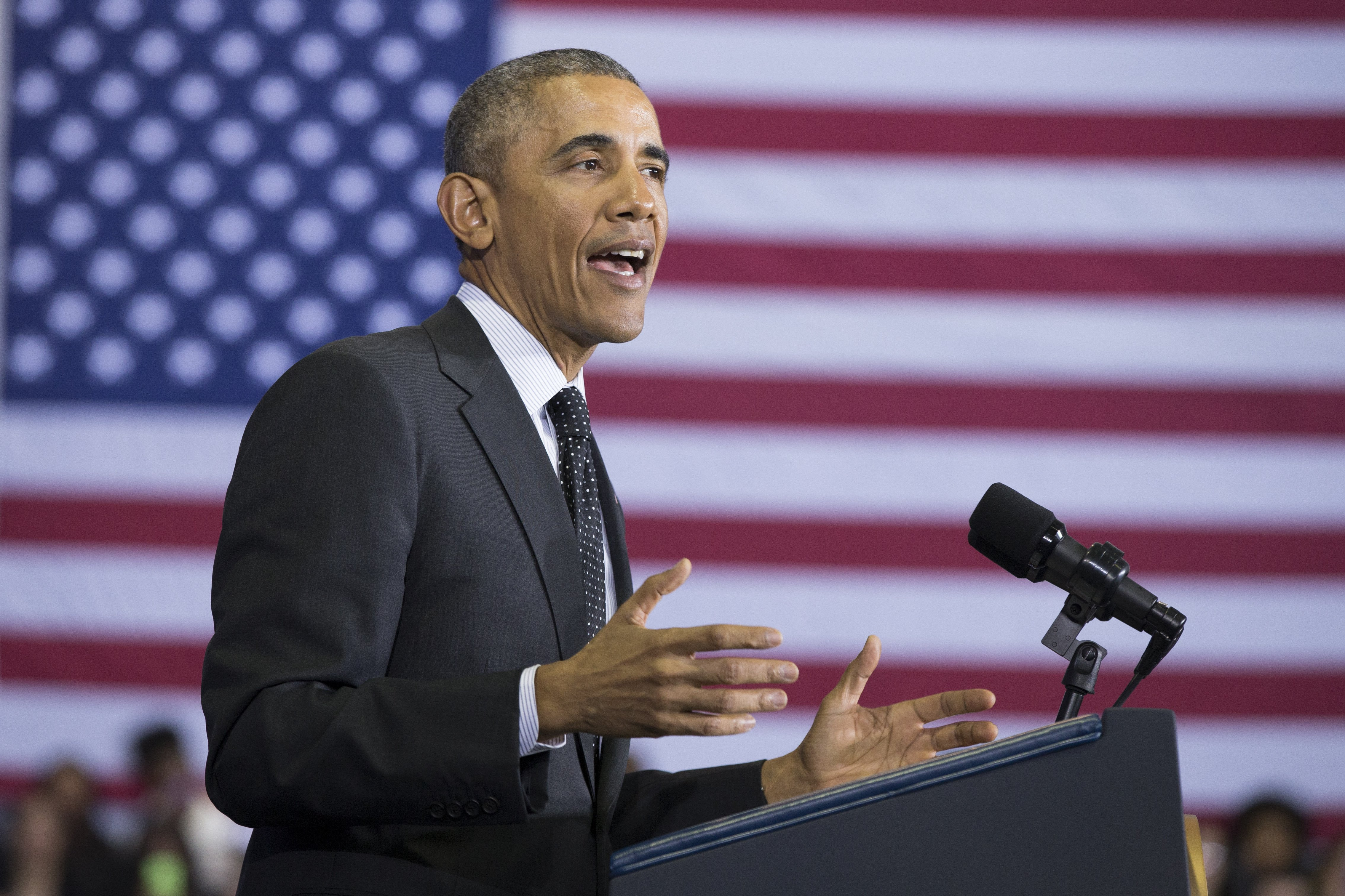 President Barack Obama speaks in Chicago on Feb. 19, 2015.