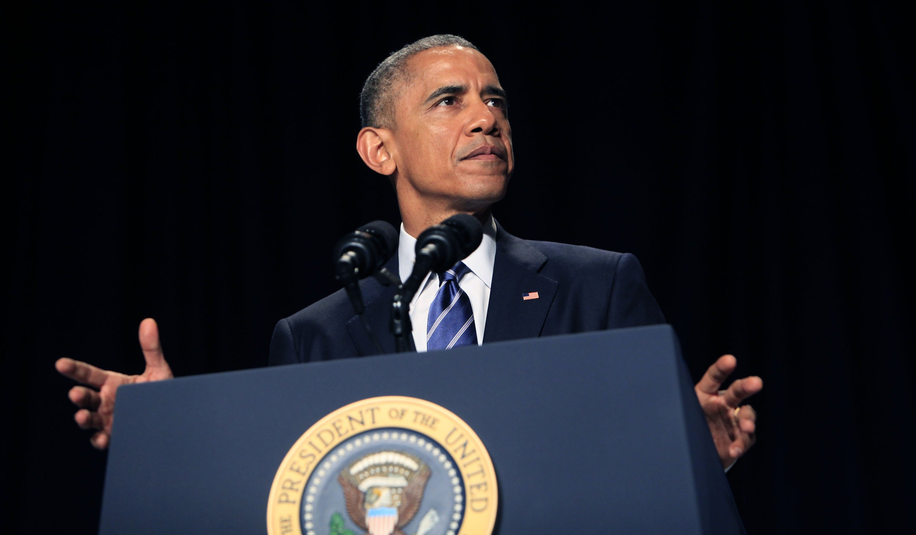 President Barack Obama speaks during the National Prayer Breakfast on Feb. 5, 2015 in Washington D.C.