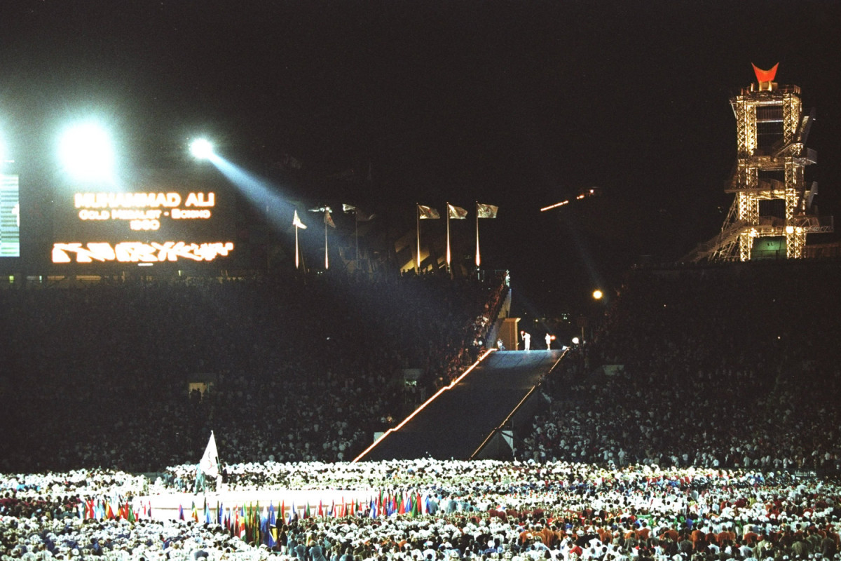 Ali lights the Olympic flame, Atlanta, 1996                               George Foreman:  I remember seeing Muhammad Ali light the torch at the Olympic Games in 1996. When he was holding the torch, it was like he was saying 'I'm still pretty. It was never about my footwork, my fast hands or poems — it was about me. I'm the greatest of all time.' It was at that moment that I realized Ali really was the greatest.                                 George Foreman is a two-time former world heavyweight boxing champion.