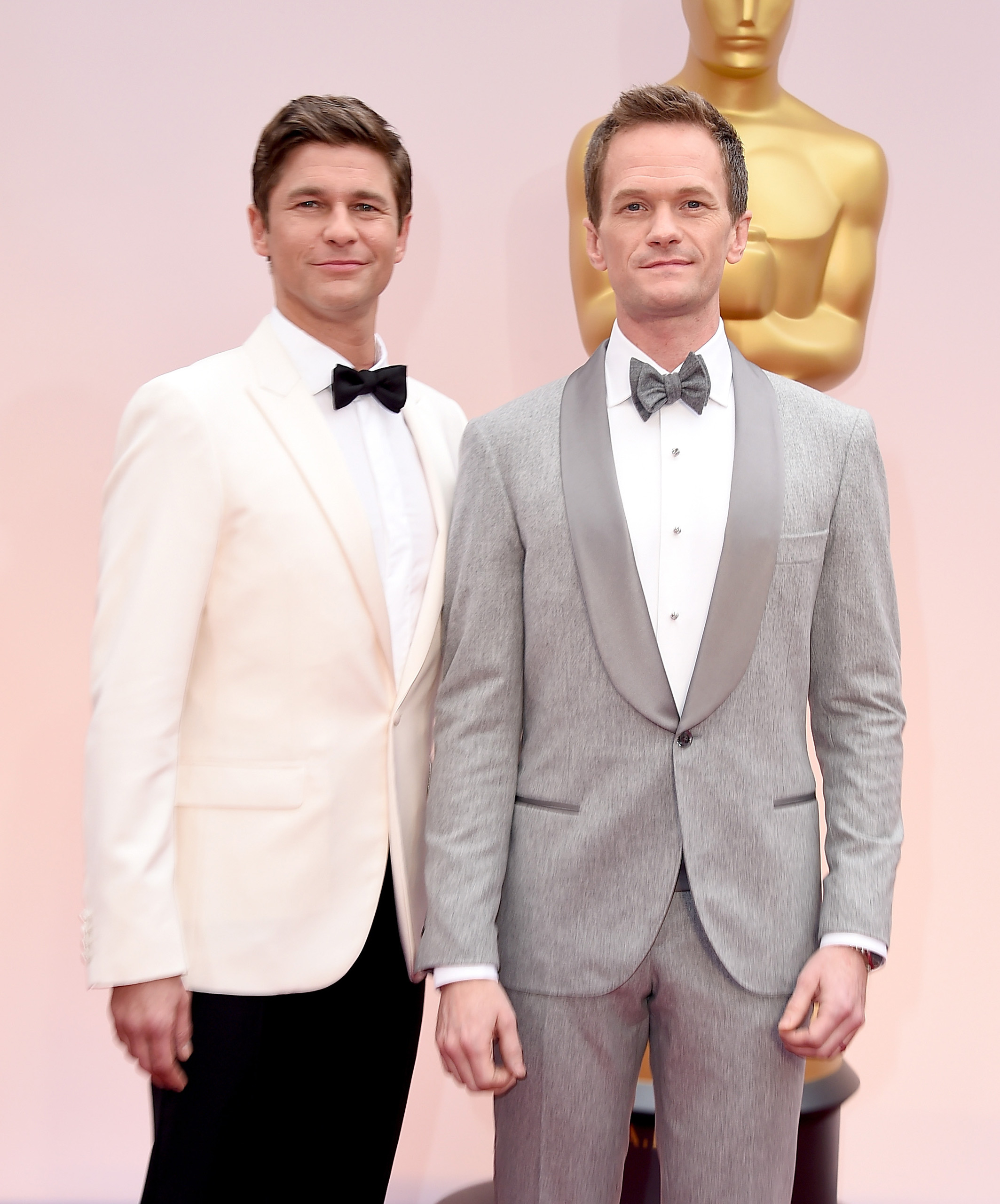 Neil Patrick Harris, right, and David Burtka attendsthe 87th Annual Academy Awards on Feb. 22, 2015 in Hollywood, Calif.