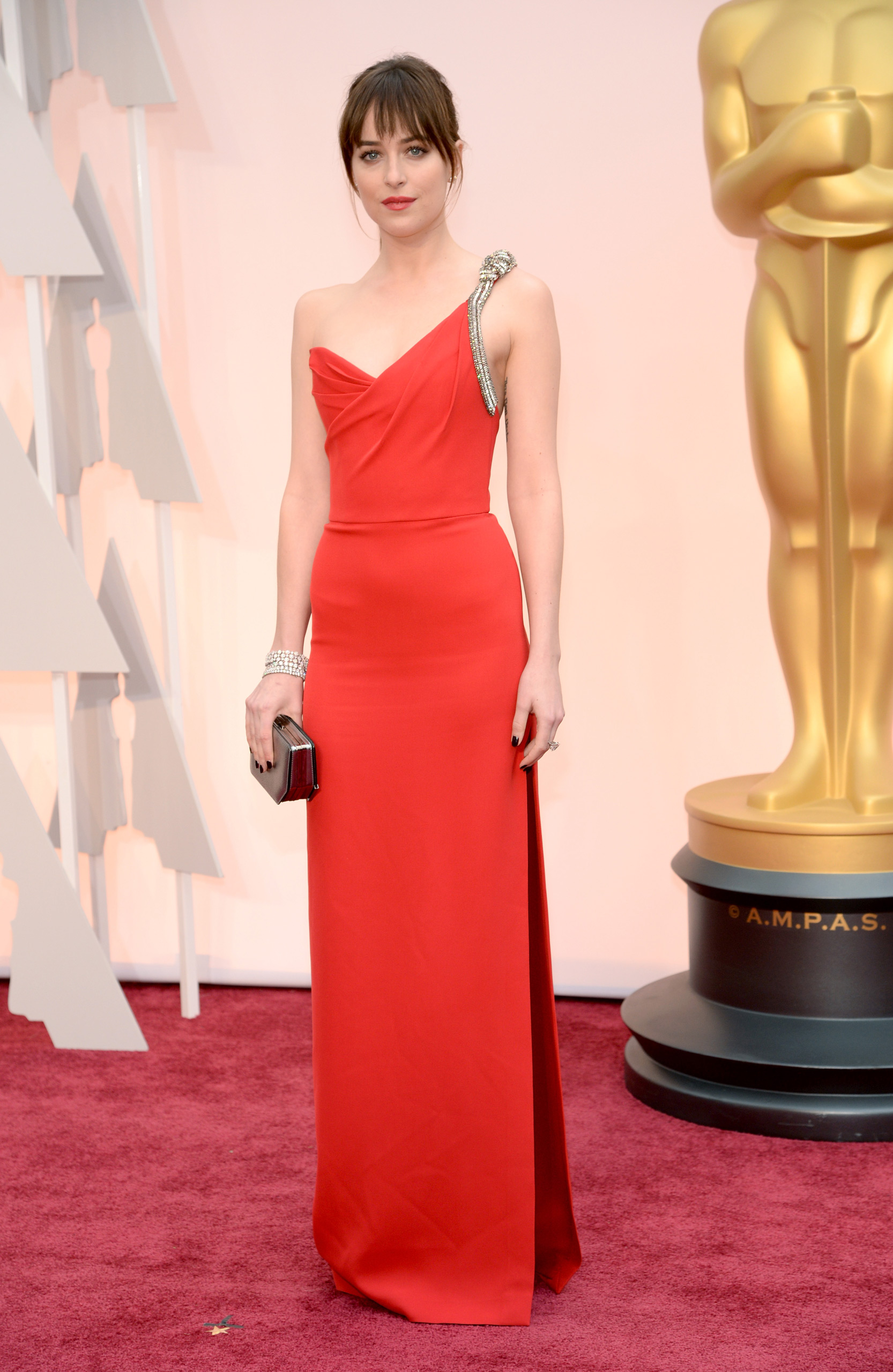 Dakota Johnson attends the 87th Annual Academy Awards on Feb. 22, 2015 in Hollywood, Calif.