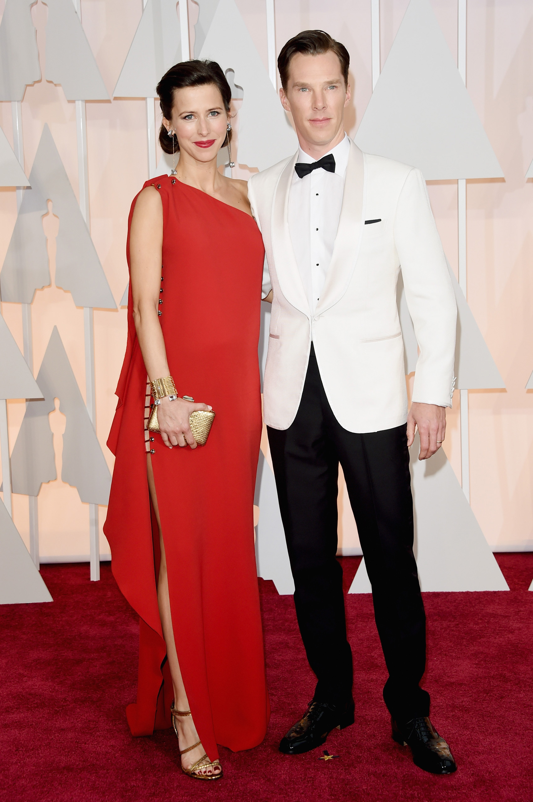 Benedict Cumberbatch and Sophie Hunter attend the 87th Annual Academy Awards on Feb. 22, 2015 in Hollywood, Calif.