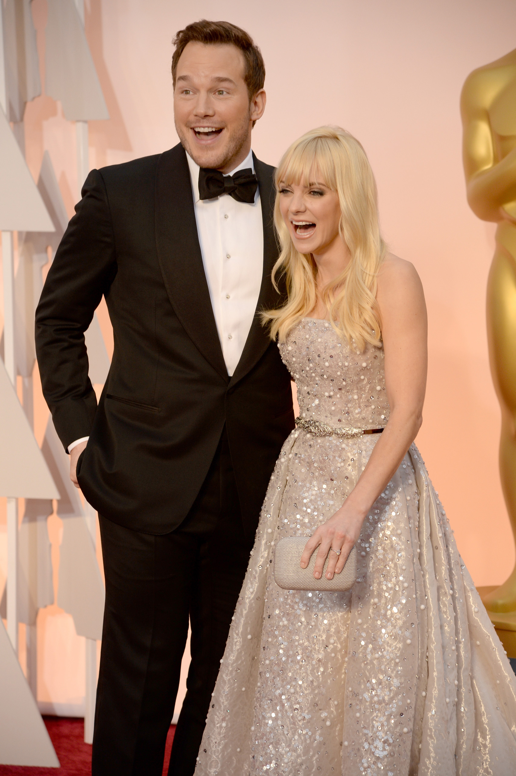 Chris Pratt and Anna Faris attend the 87th Annual Academy Awards on Feb. 22, 2015 in Hollywood, Calif.