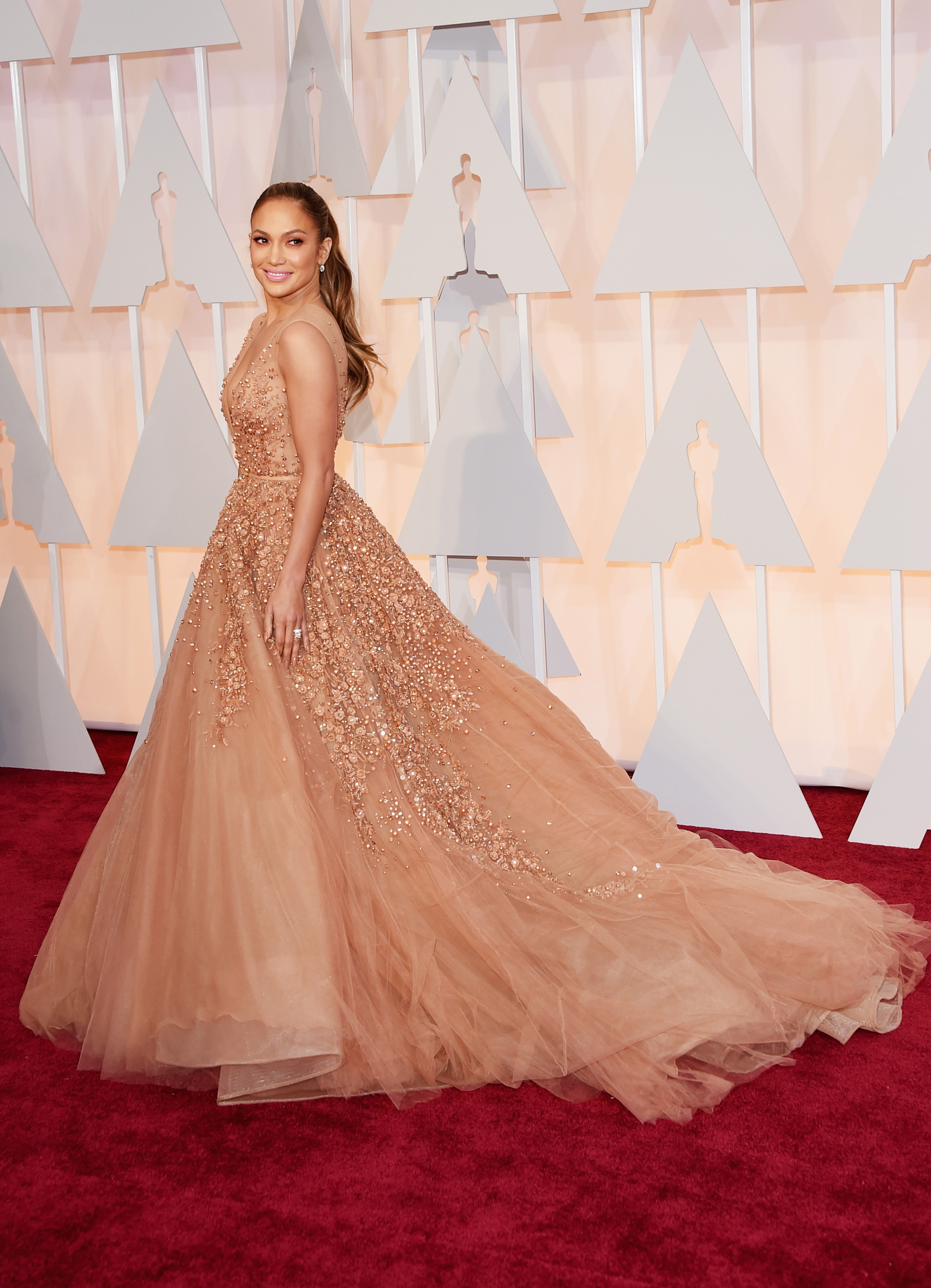Jennifer Lopez attends the 87th Annual Academy Awards on Feb. 22, 2015 in Hollywood, Calif.