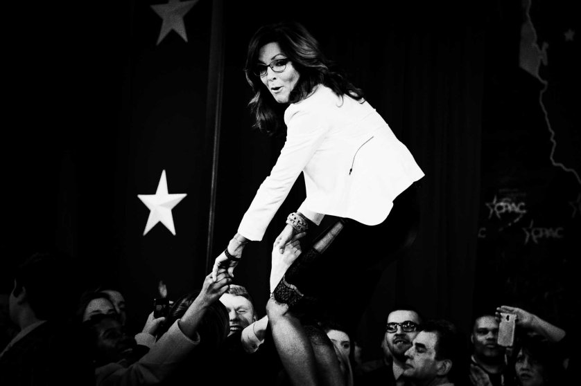 Sarah Palin at the 42nd annual Conservative Political Action Conference (CPAC) at National Harbor, MD on Feb. 26, 2015.
