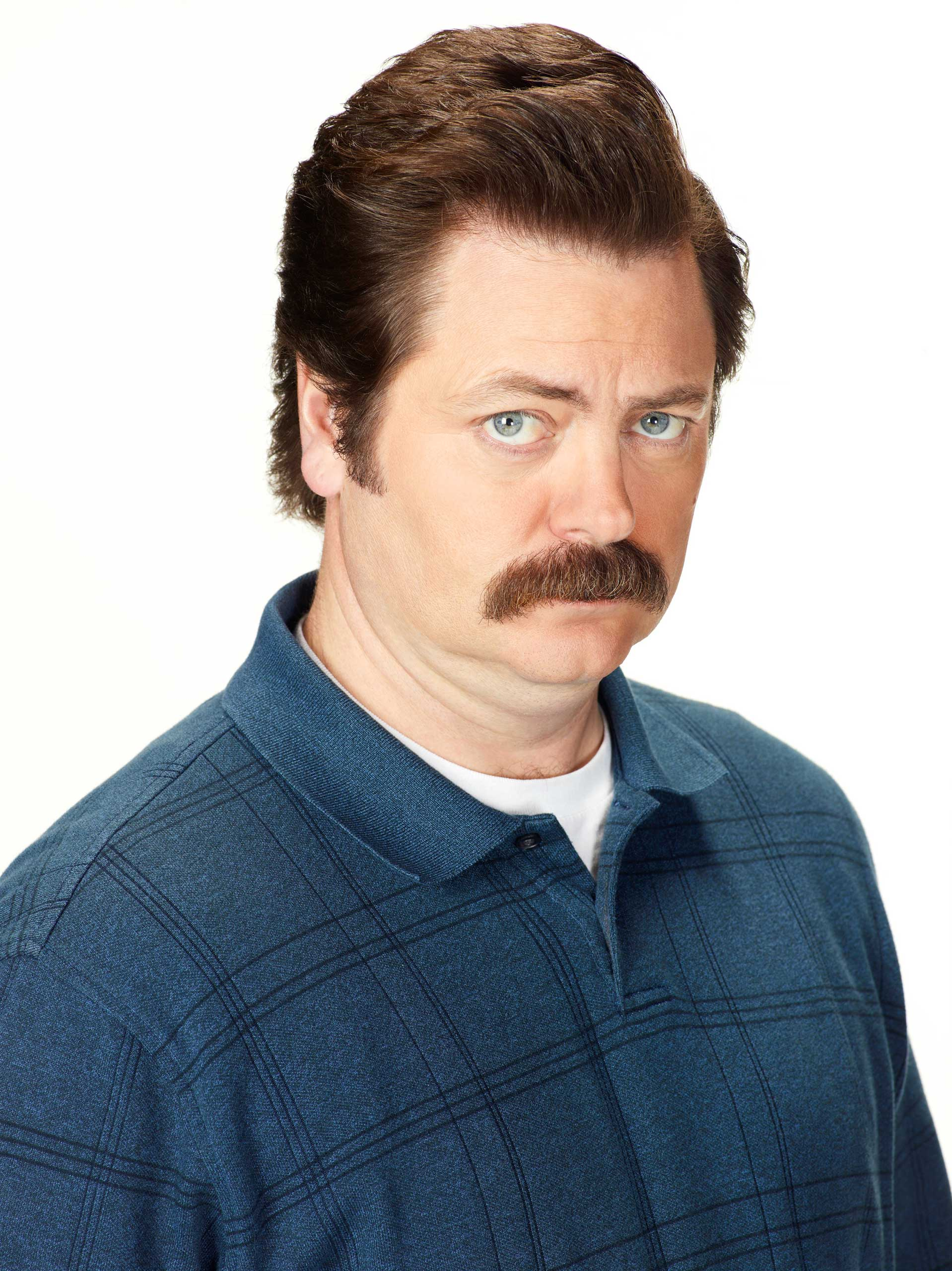 PARKS AND RECREATION -- Season: 6 -- Pictured: Nick Offerman as Ron Swanson -- (Photo by: /NBC/NBCU Photo Bank)