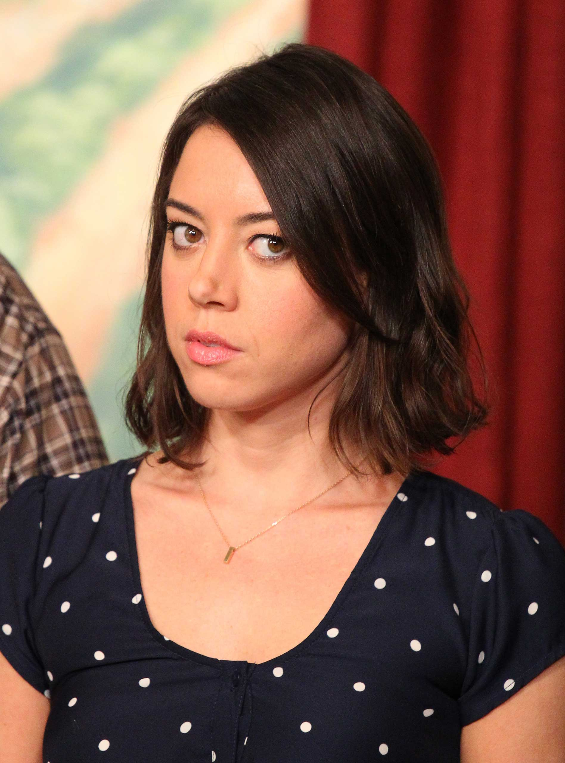 STUDIO CITY, CA - OCTOBER 16: Aubrey Plaza attends the NBC 'Parks And Recreation' 100th Episode Celebration held at CBS Studios - Radford on October 16, 2013 in Studio City, California. (Photo by JB Lacroix/WireImage)