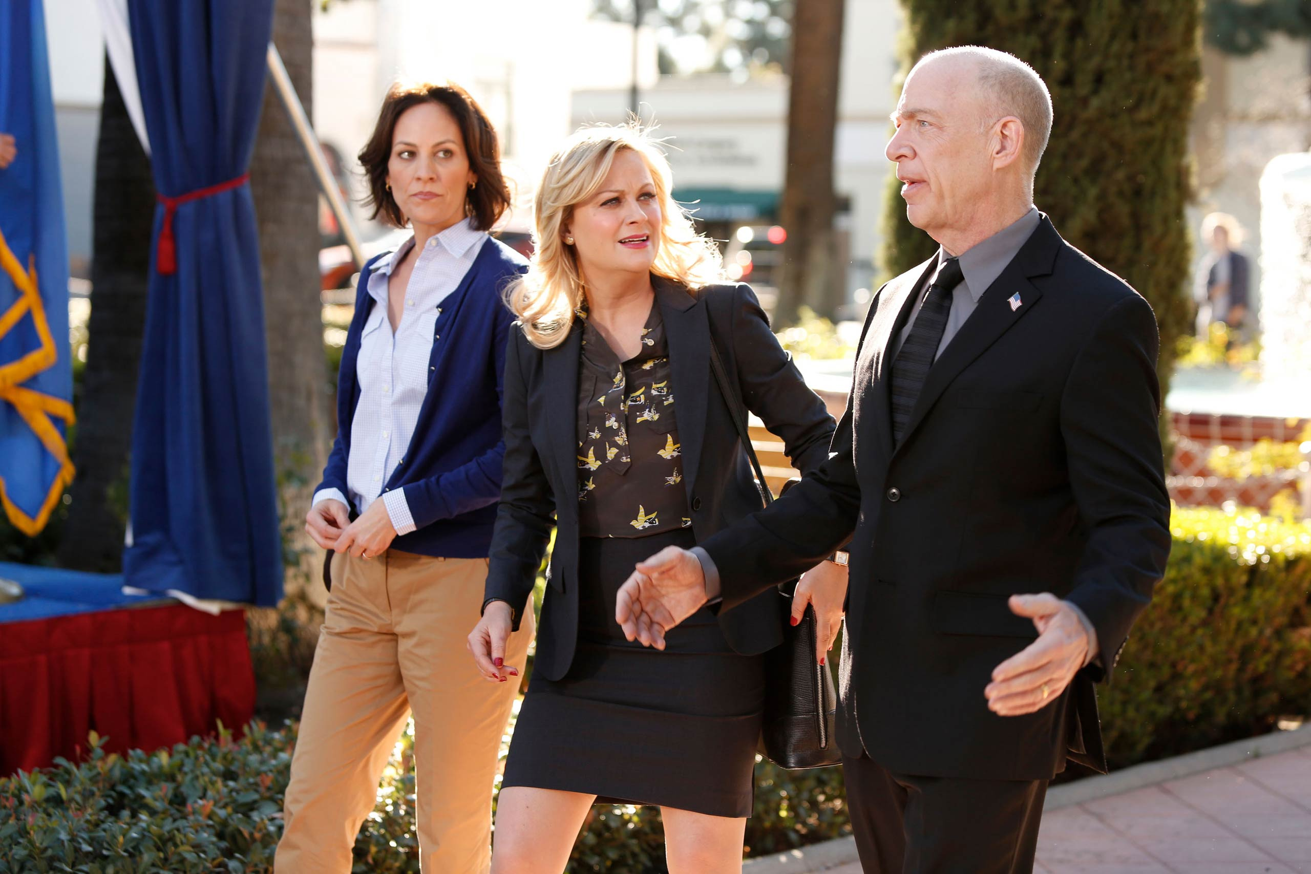 <strong>J.K. Simmons, right, as Mayor Stice</strong>