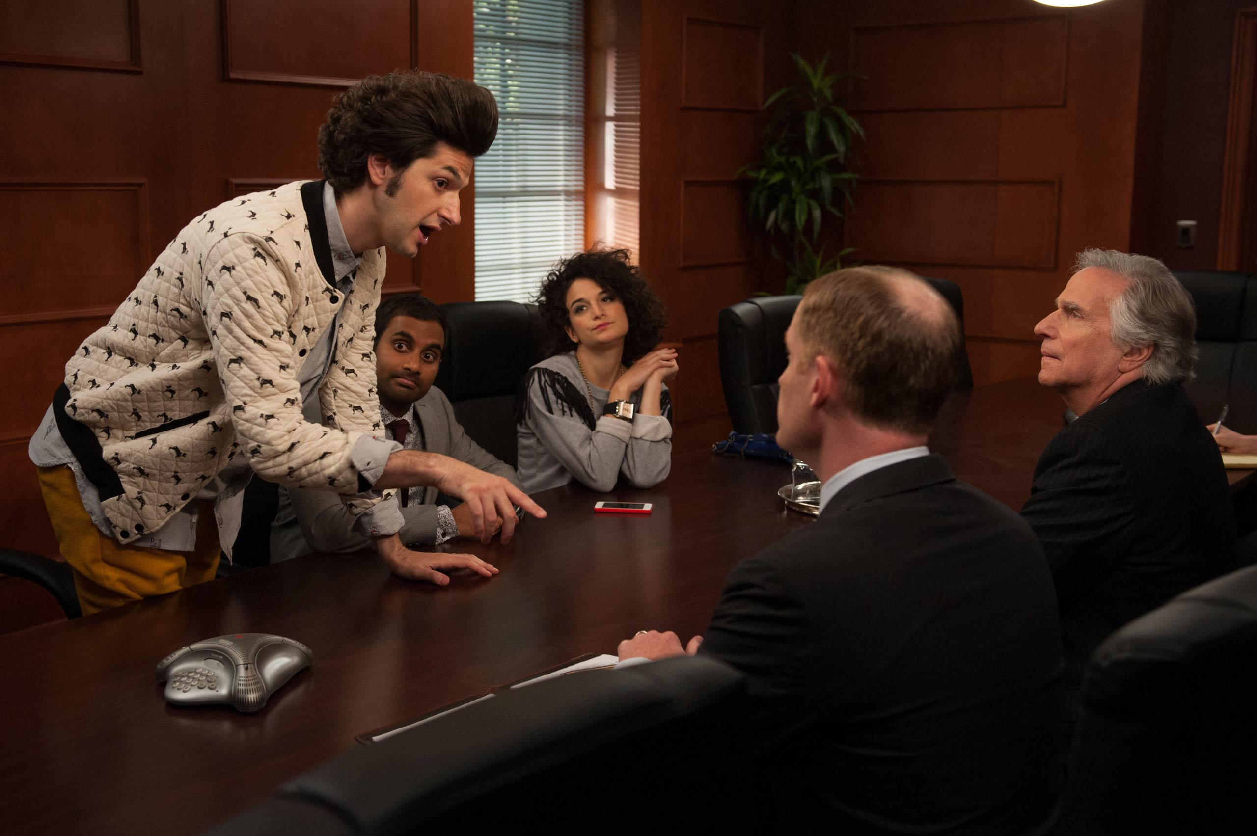 <strong>Ben Schwartz, left, as Jean-Ralphio Saperstein</strong>