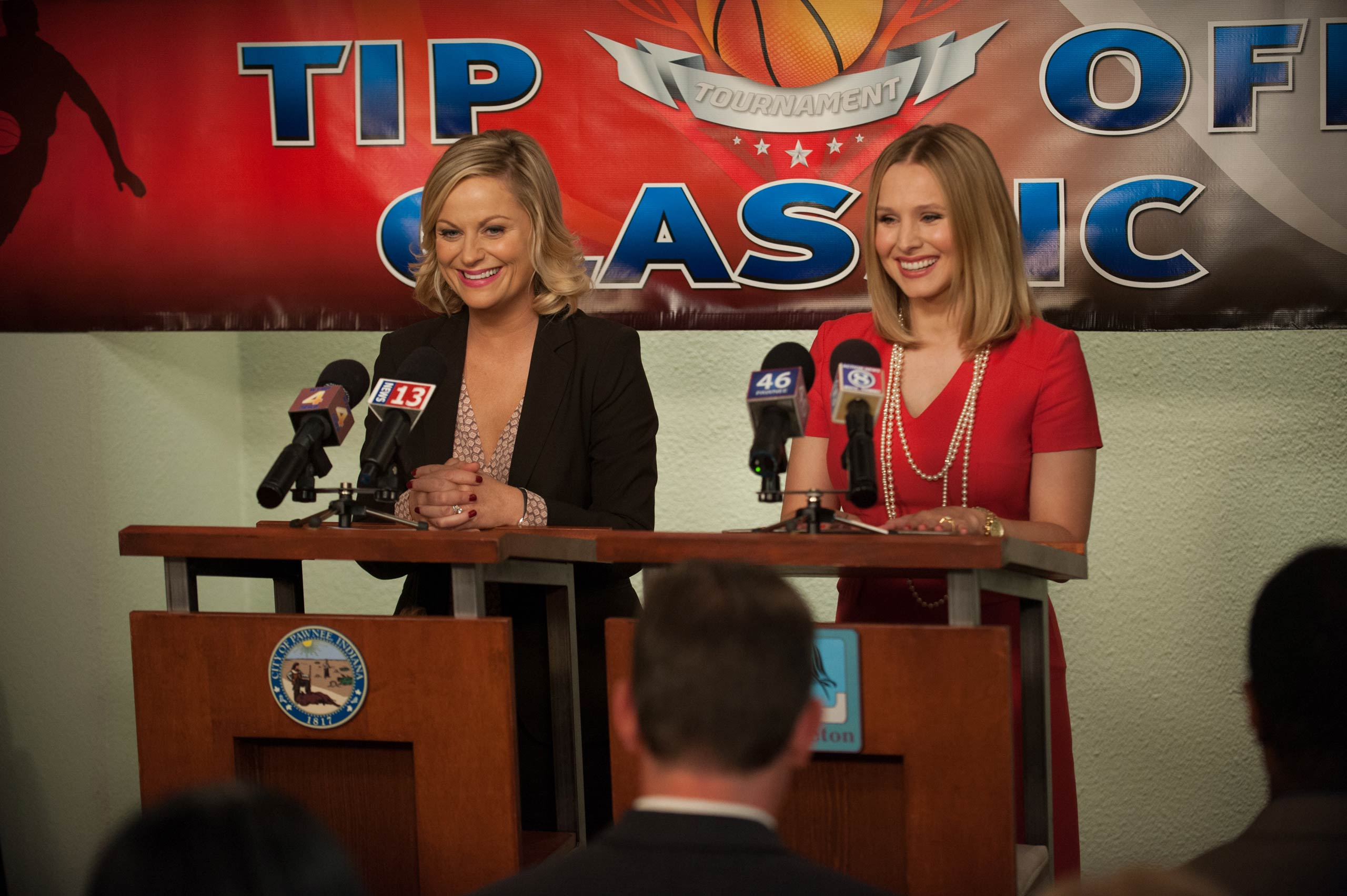 <strong>Kristen Bell, right, as Ingrid de Forest</strong>