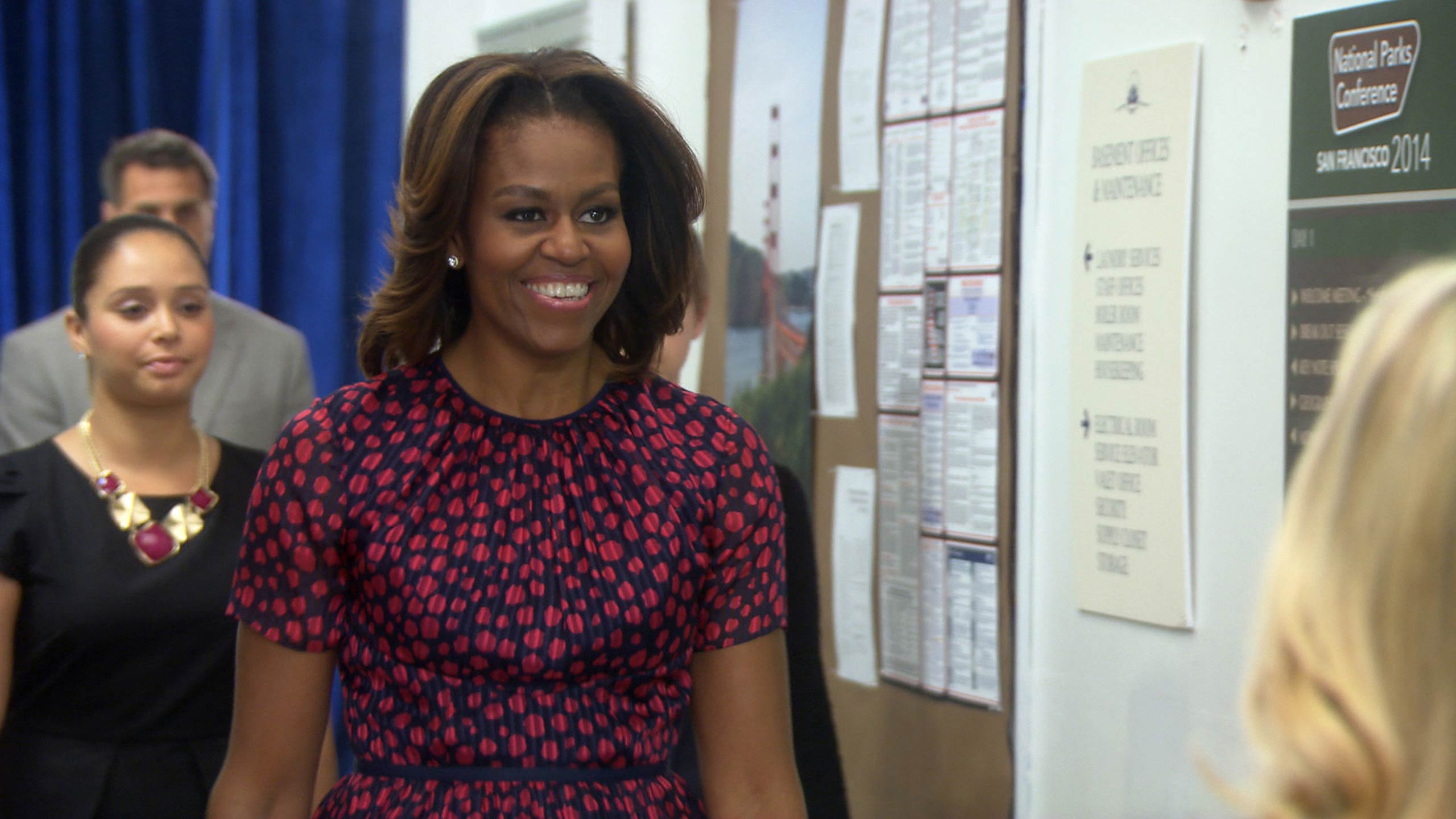 <strong>Michelle Obama as herself</strong>