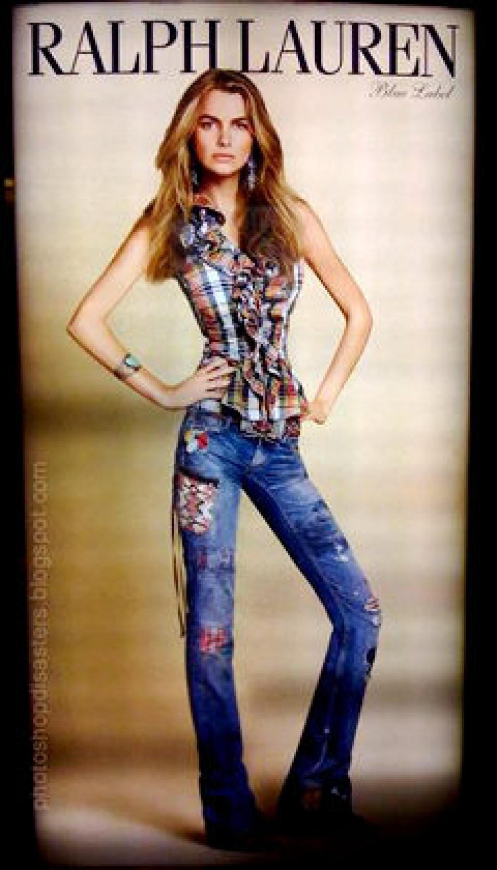 """This <a href=""""http://www.nydailynews.com/life-style/fashion/ralph-lauren-model-filippa-hamilton-fired-fat-article-1.381093"""" target=""""_blank"""">Ralph Lauren</a> advertisement appeared in a department store in Japan featuring model Filippa Hamilton-Palmstierna."""