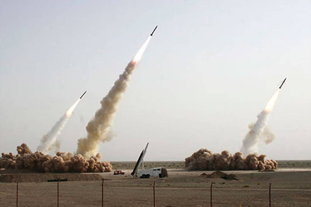"""This is the original <a href=""""http://thelede.blogs.nytimes.com/2008/07/10/in-an-iranian-image-a-missile-too-many/"""" target=""""_blank"""">photograph</a>  with the grounded missile."""