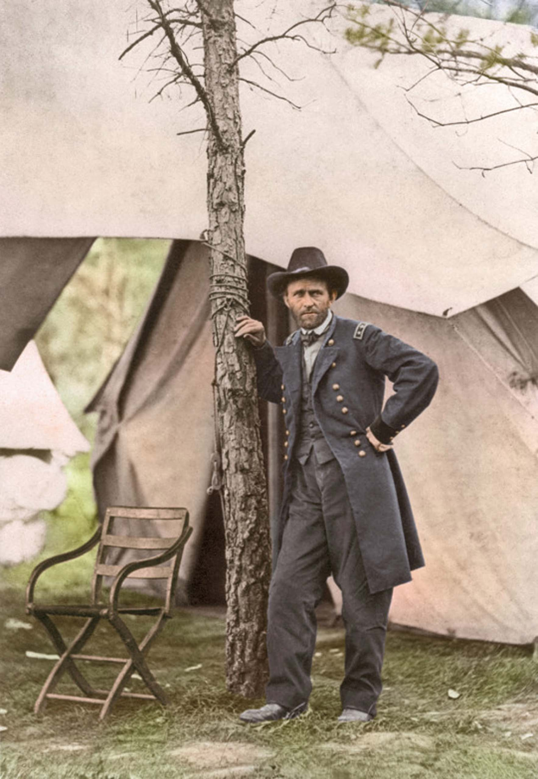 June 11 or 12, 1864. General Ulysses S. Grant at City Point.                                   <i>Ranked #26 in SRI Survey of American Presidents, Grant remained in the bottom five Presidents of the survey through the 1980s and 1990s before being bumped up the list.</i>