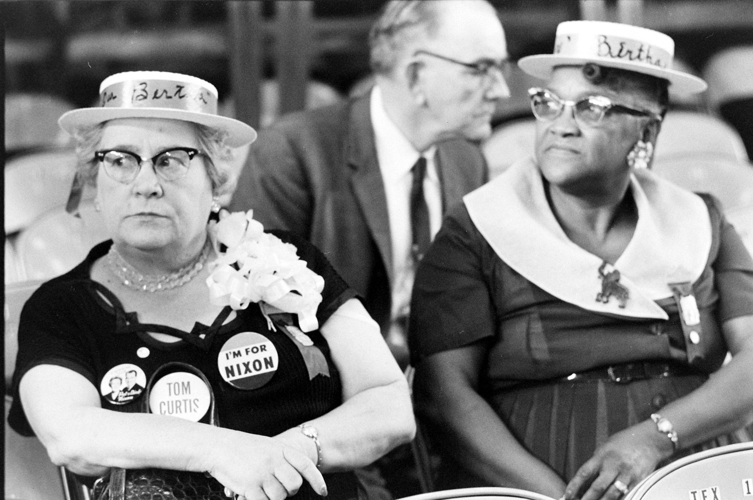 Scene during the 1960 Republican National Convention in Chicago.