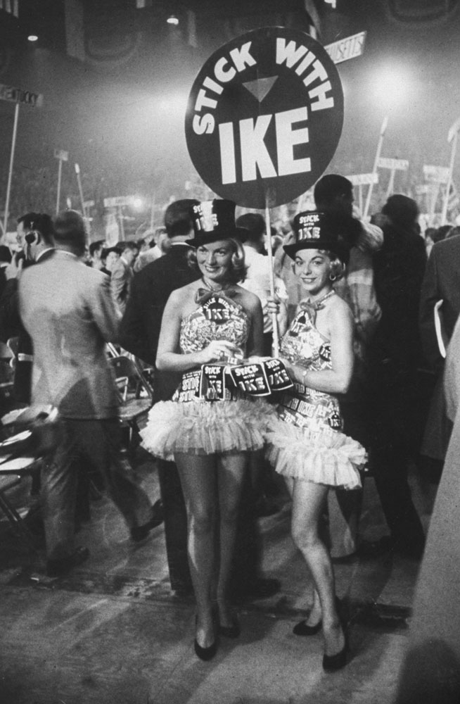 Scene at the 1956 Republican National Convention, San Francisco, California.