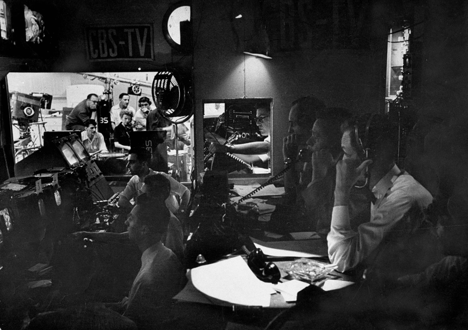 Control booth, 1952 GOP National Convention in Chicago.